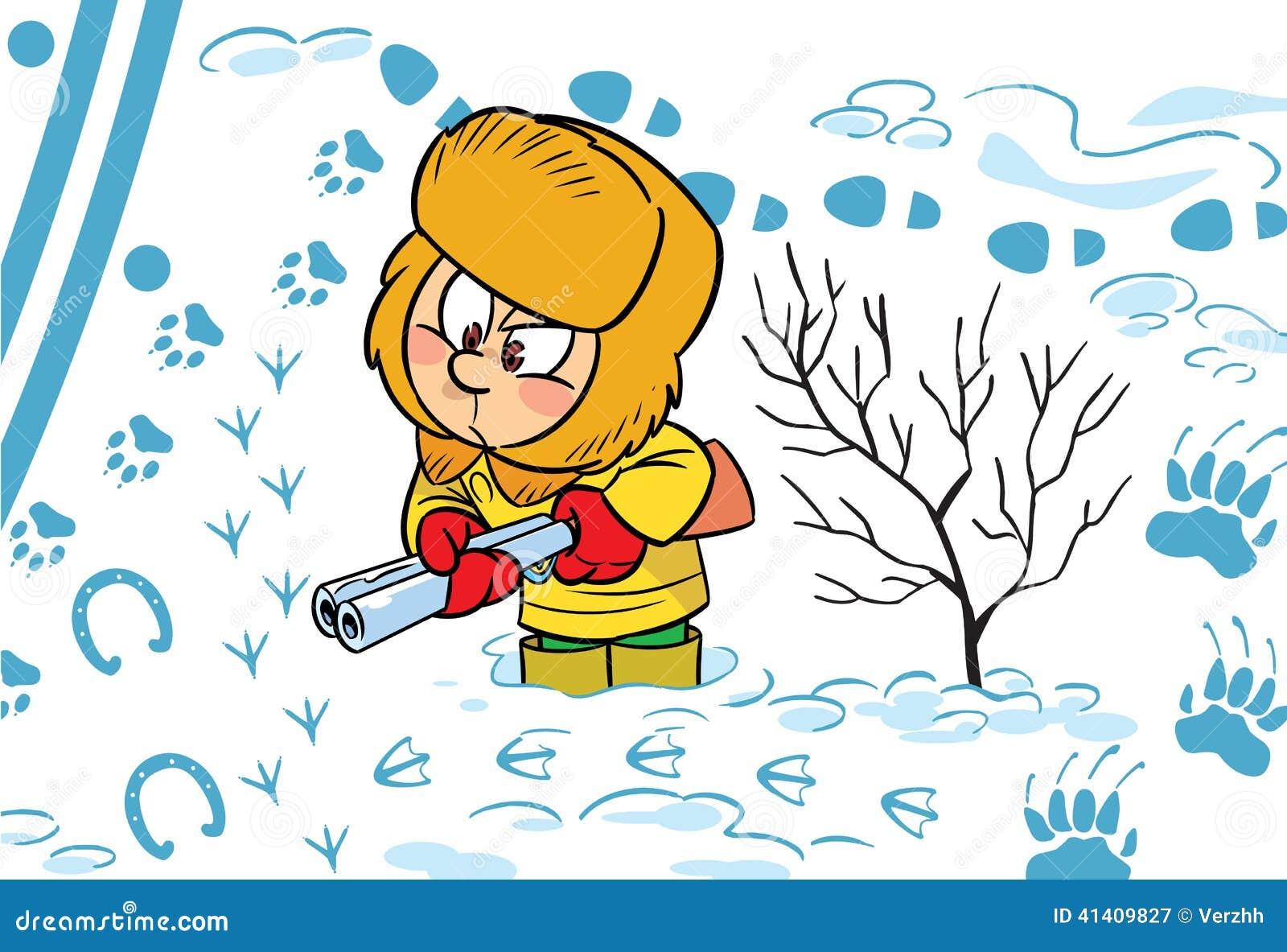 冬天的动物 图片卡通