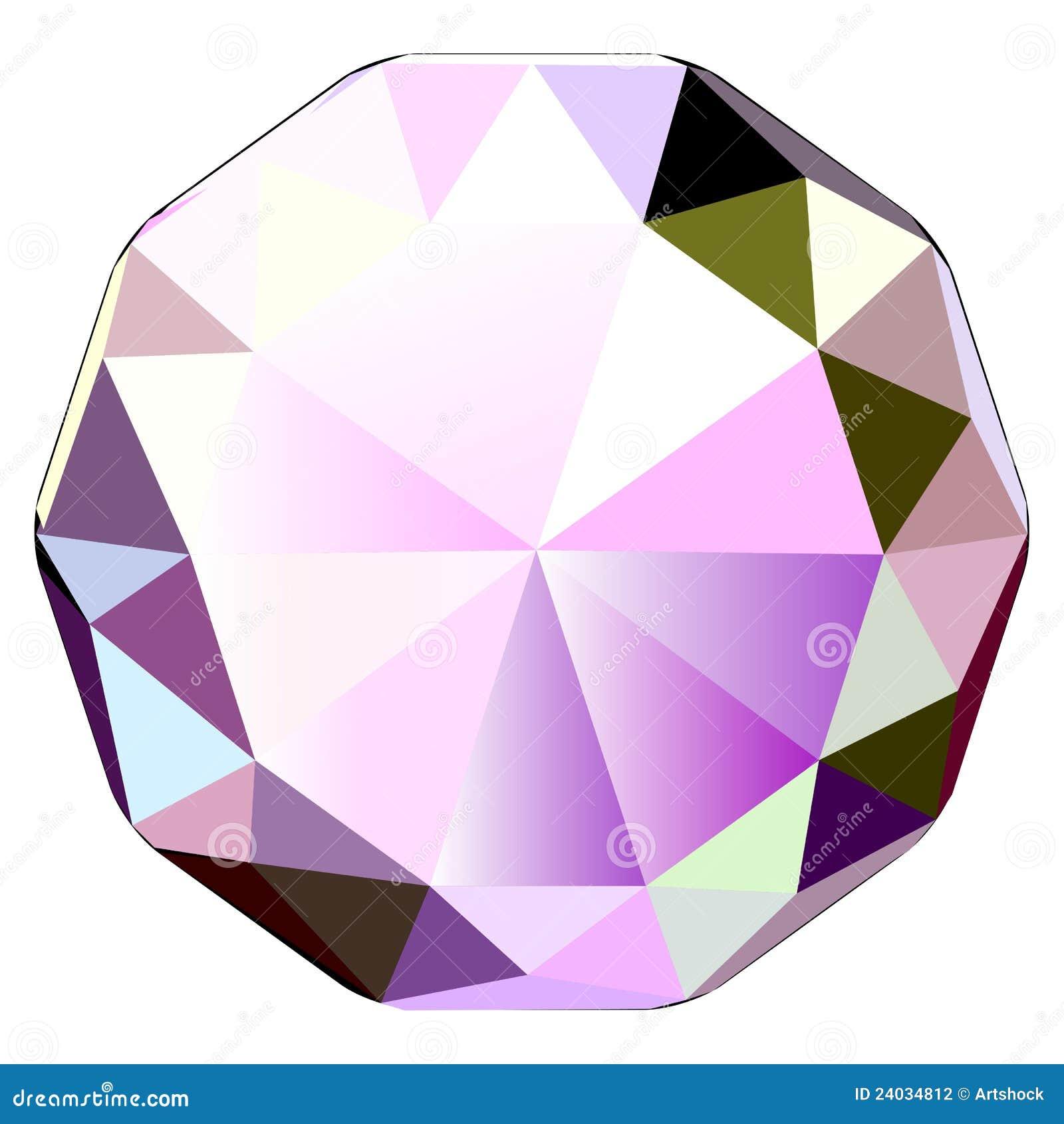 五颜六色的金刚石图标例证珠宝石头向量.图片