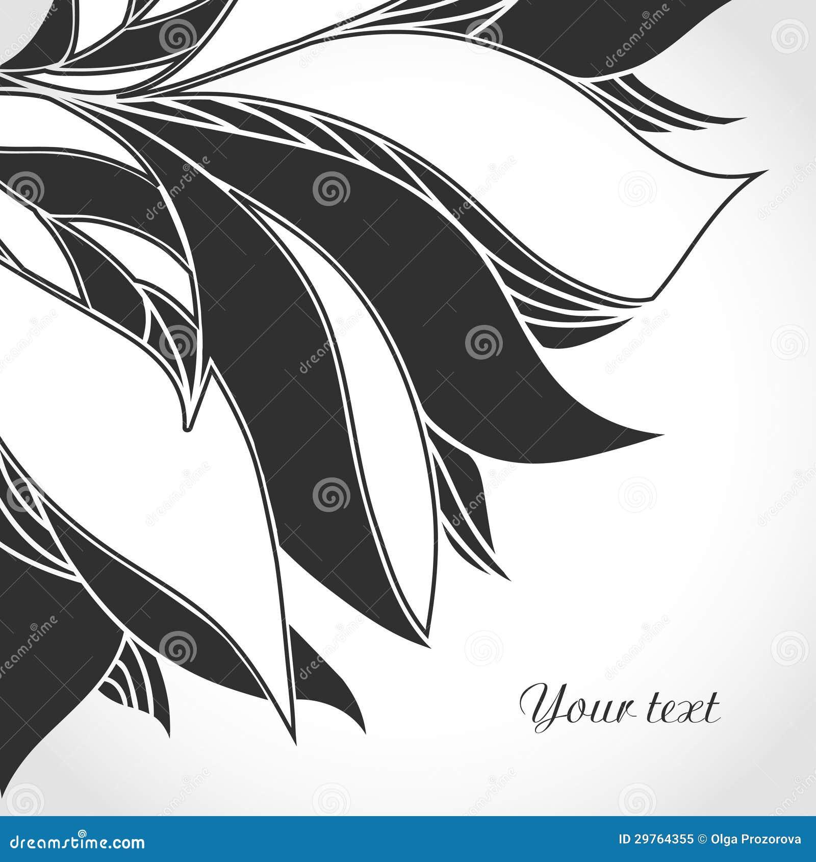 黑白纹身花刺样式.