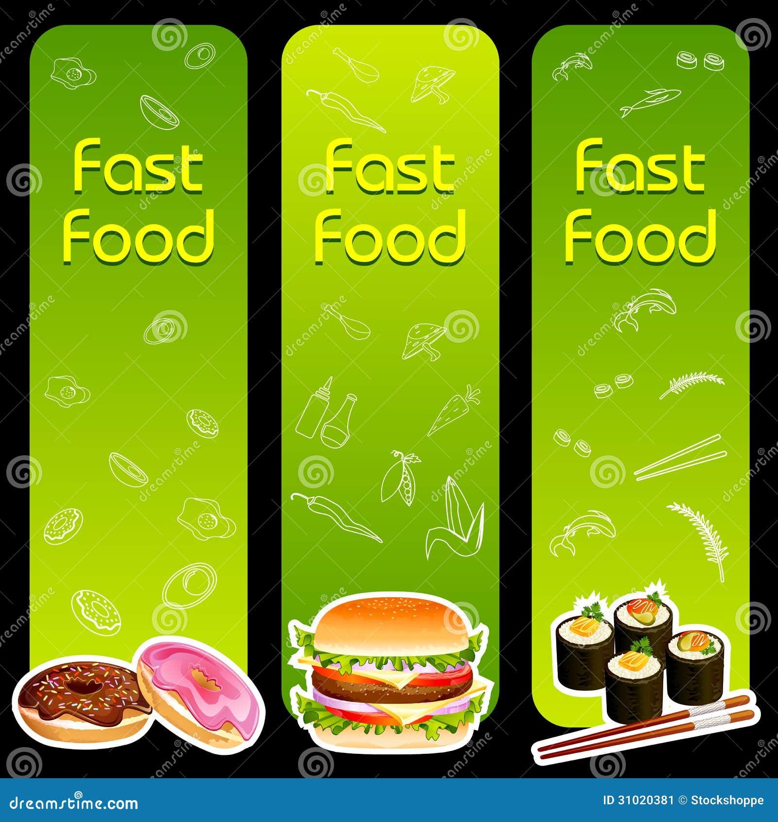 快餐菜单模板 库存图片