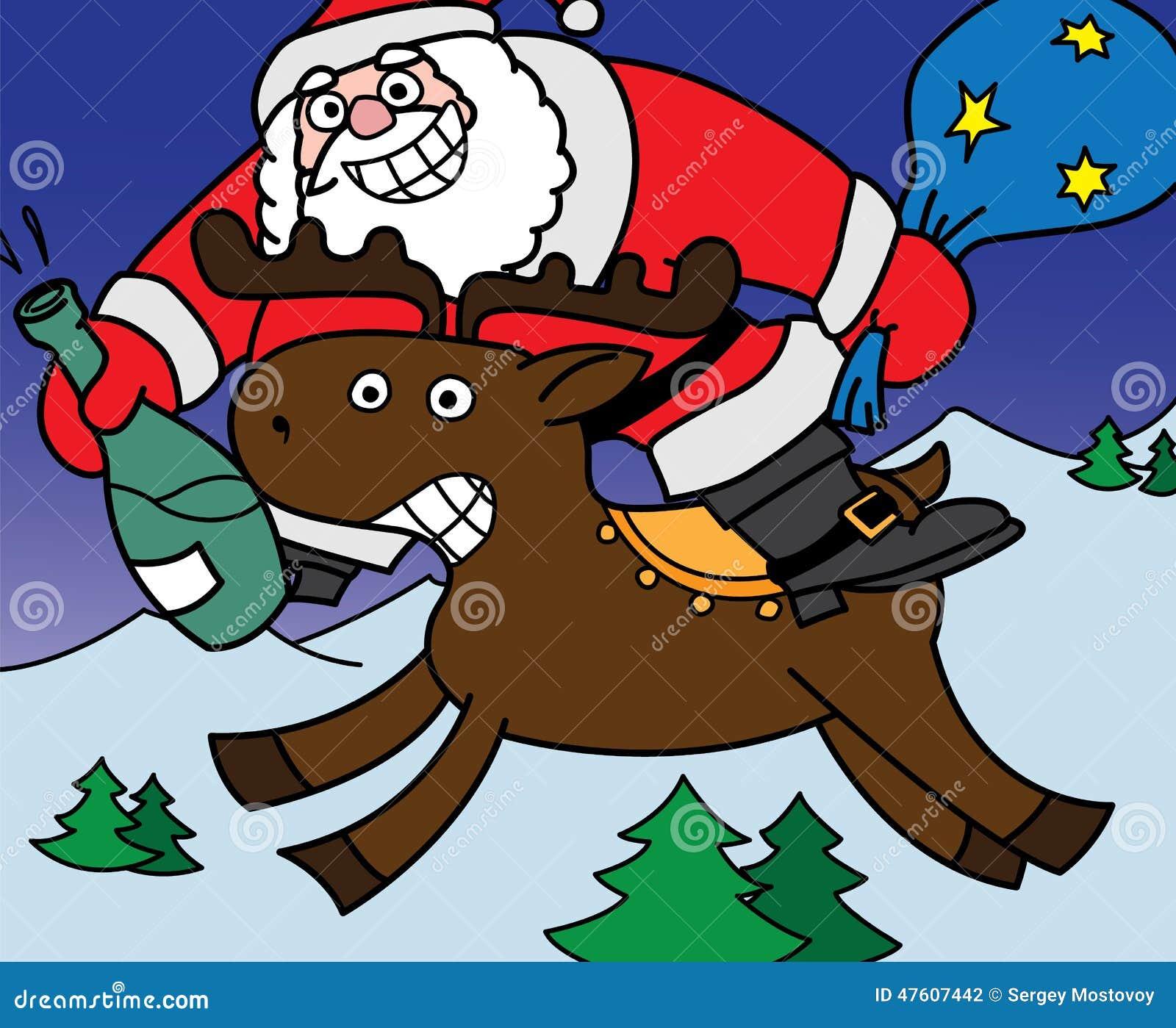 快乐的圣诞老人 向量例证