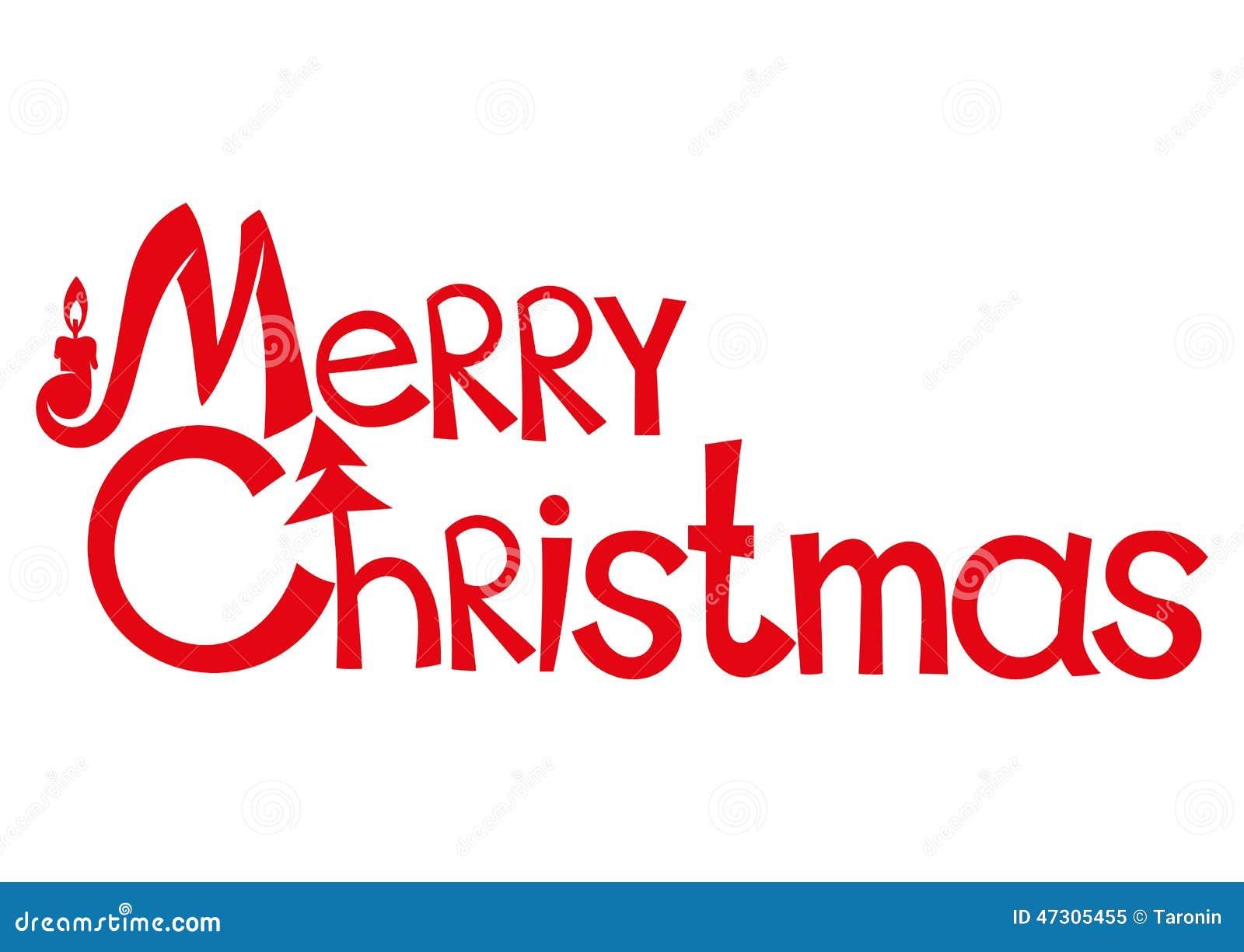 在白色隔绝的传染媒介标志 快活的圣诞节.图片