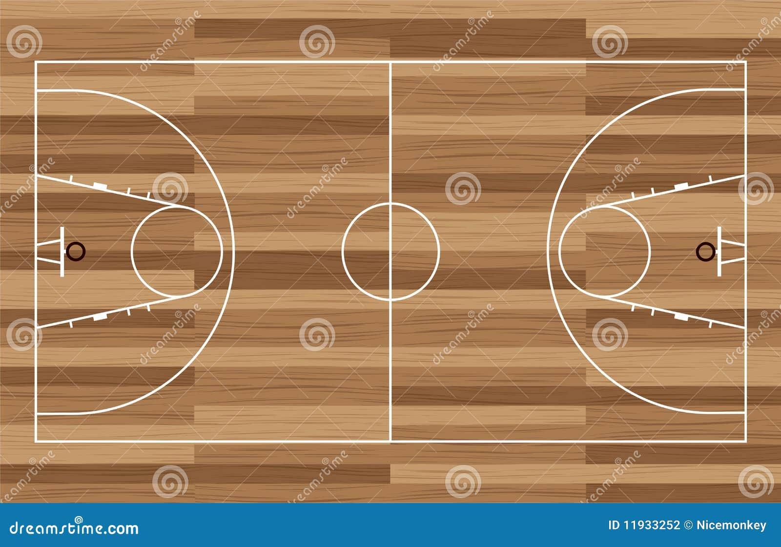 篮球场木头 图库摄影