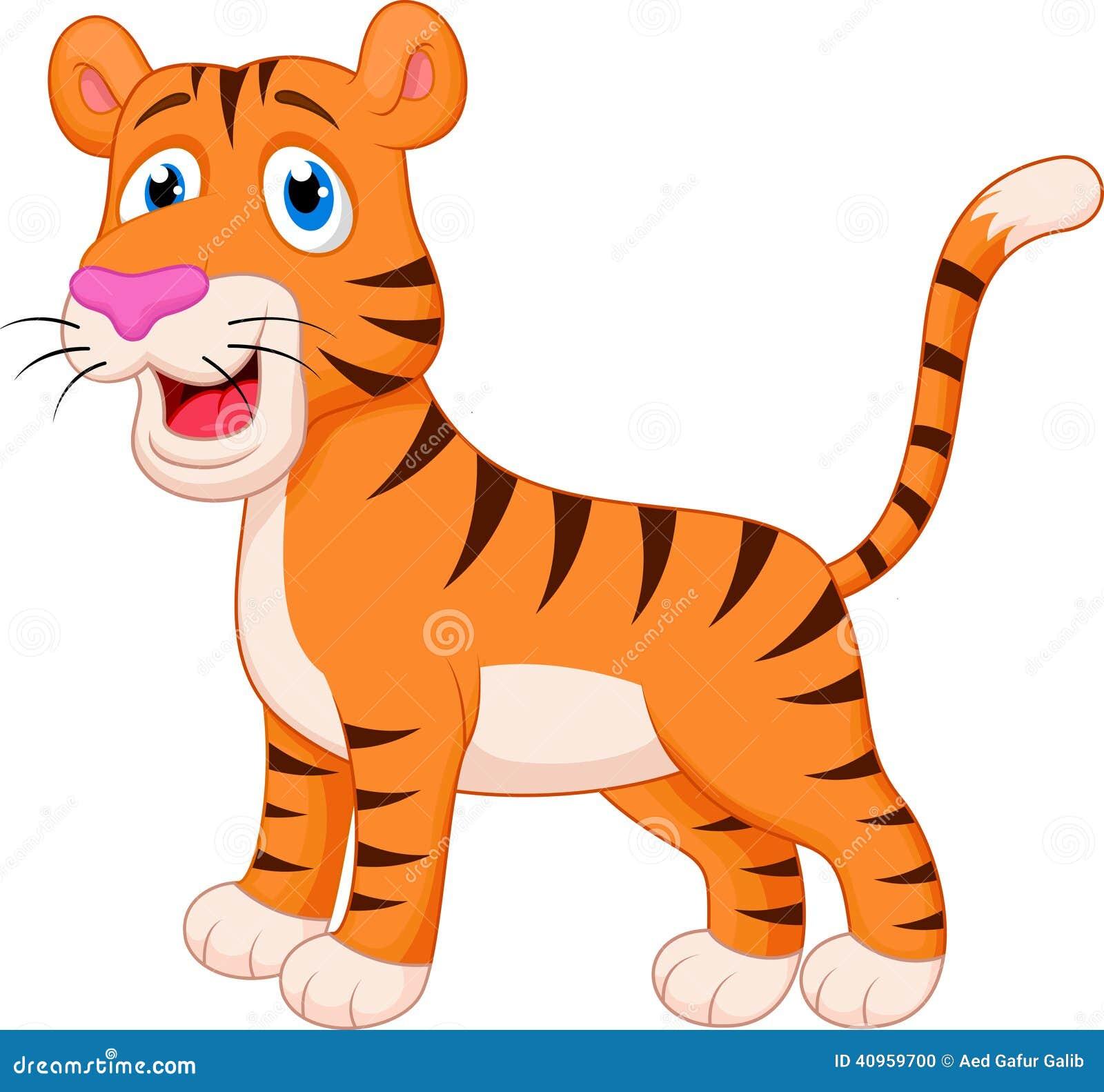老虎动画片 向量例证