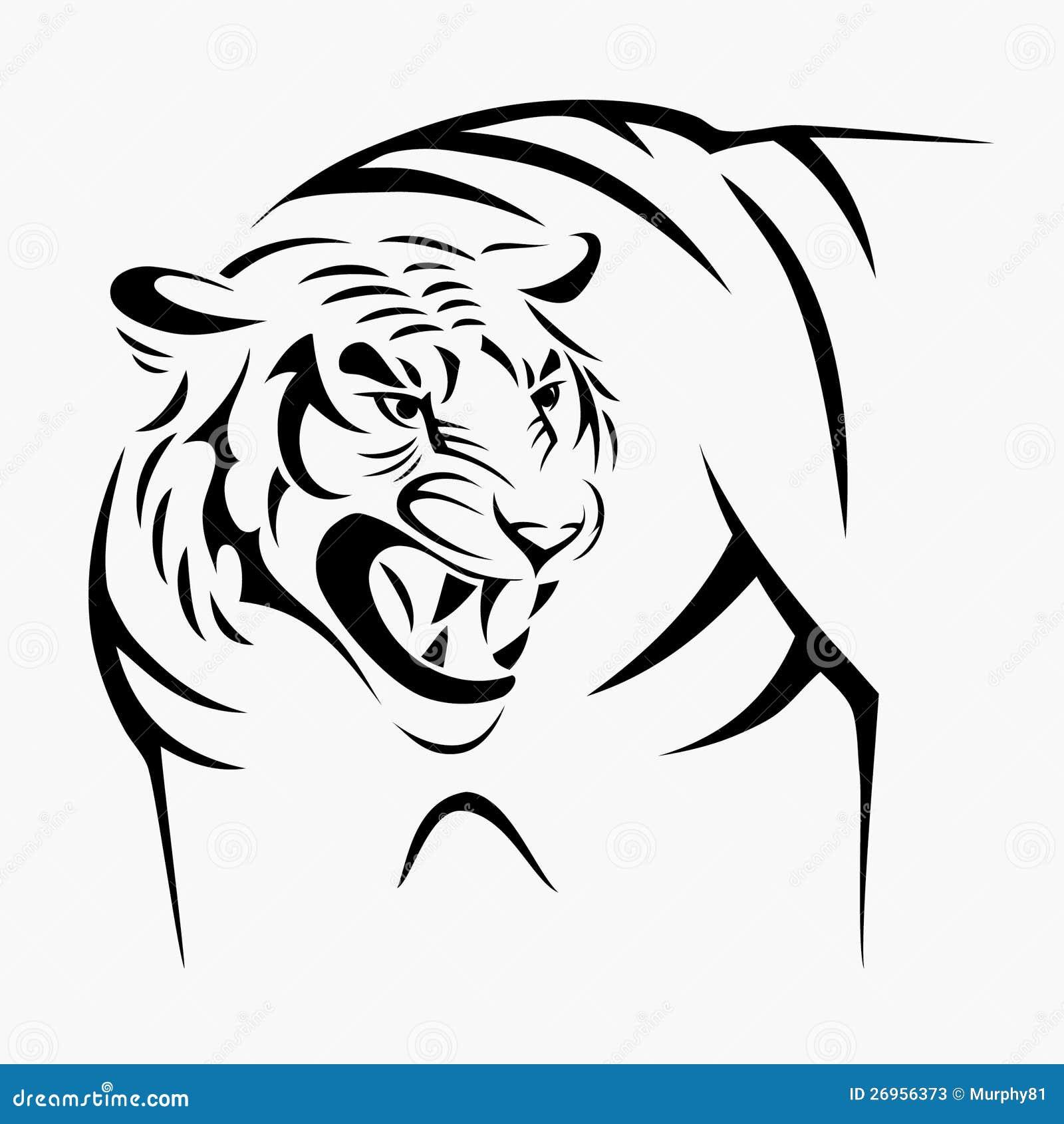 霸气老虎手绘图片