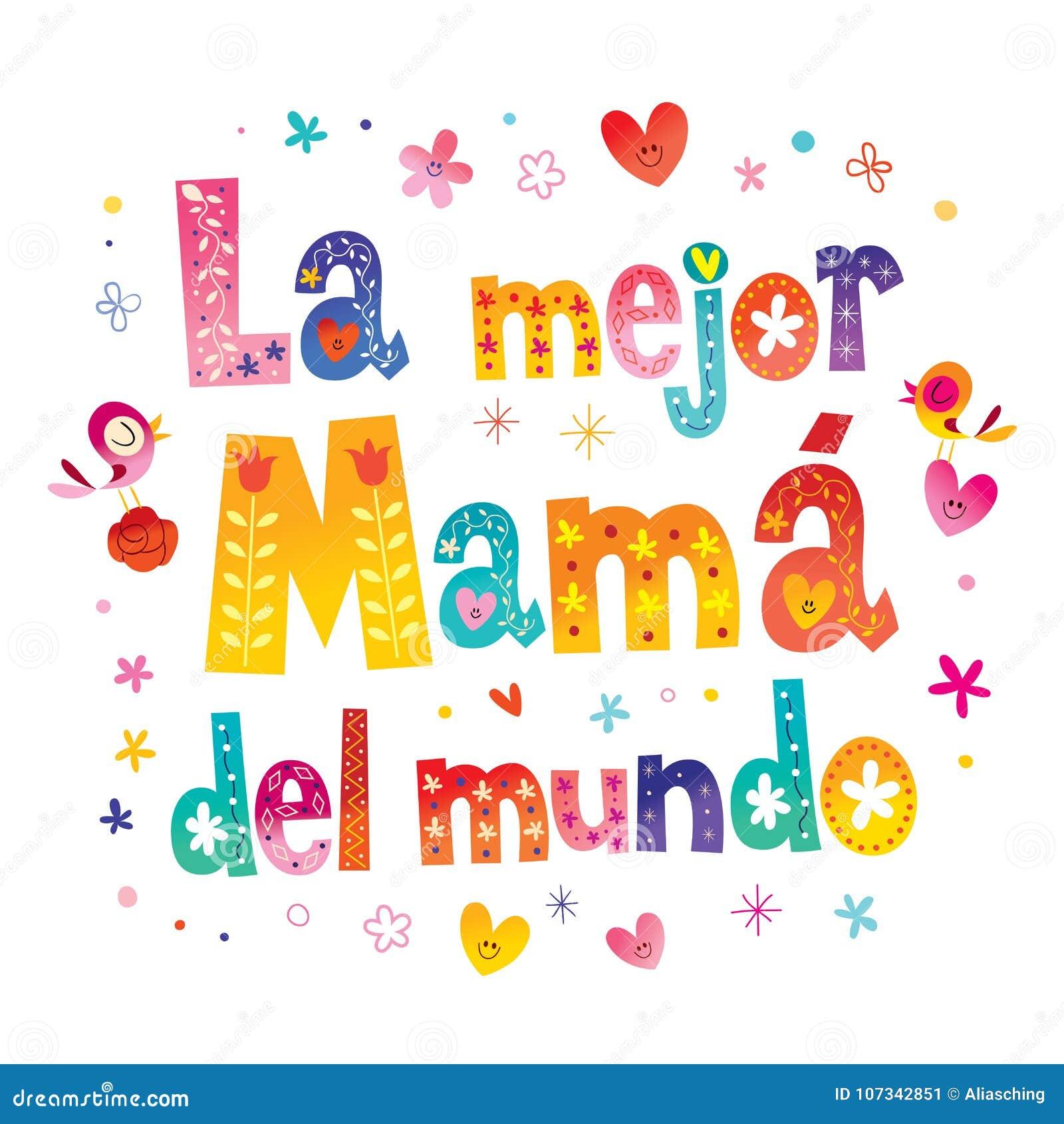 Del Mundo Die Beste Mutter La Mejor Mamã In Der Welt Vektor