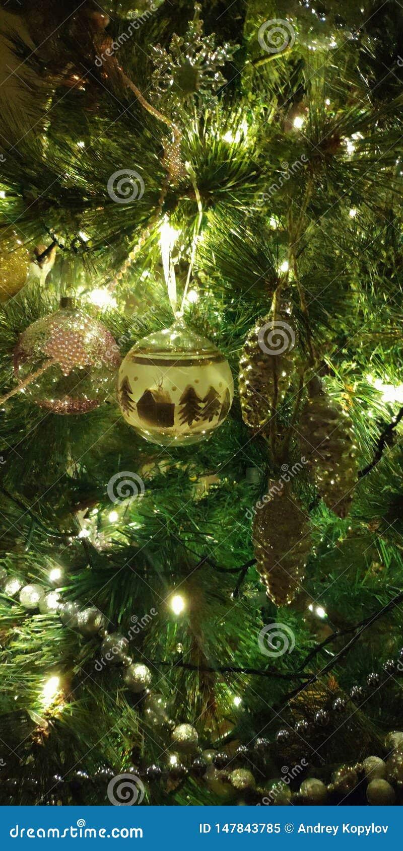 ¡Feliz Año Nuevo! Árbol de navidad ruso
