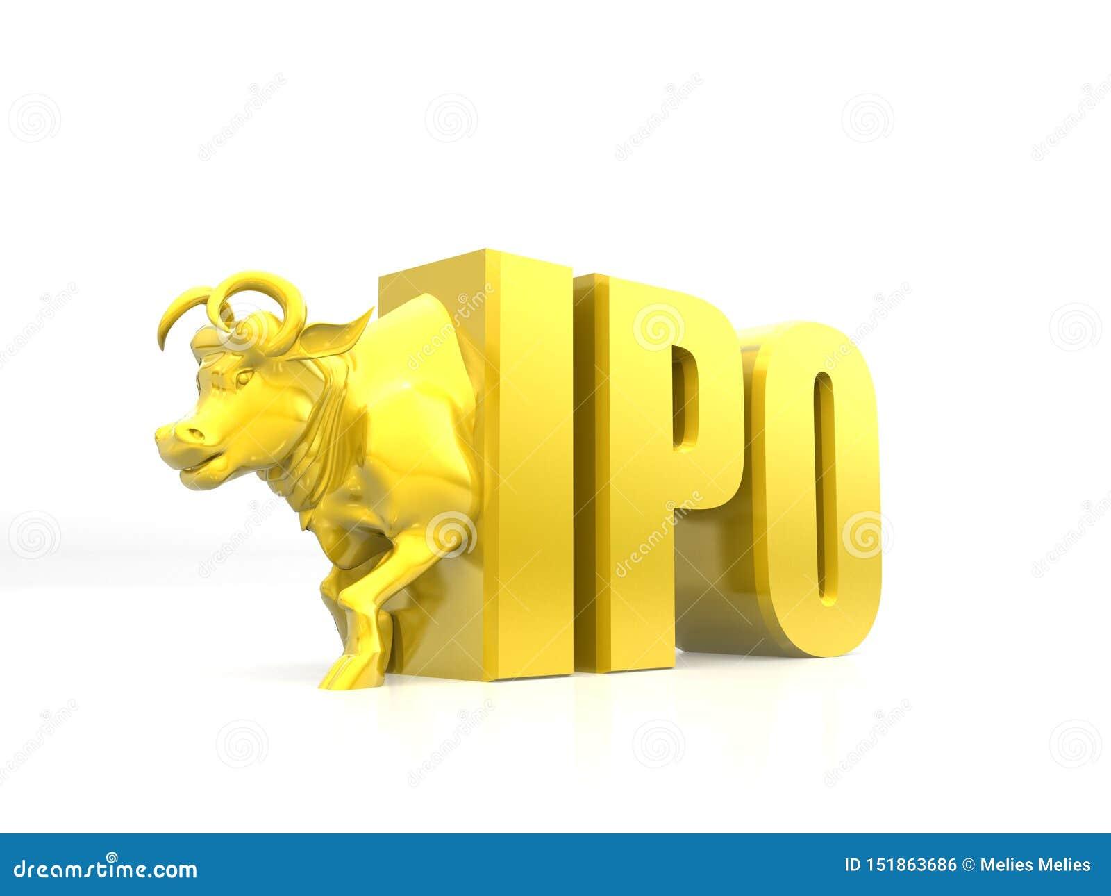 «IPO «wstępnej oferty publicznej pojęcie, rynek papierów wartościowych, części targowy pojęcie, byka doskakiwanie od IPO, krok su