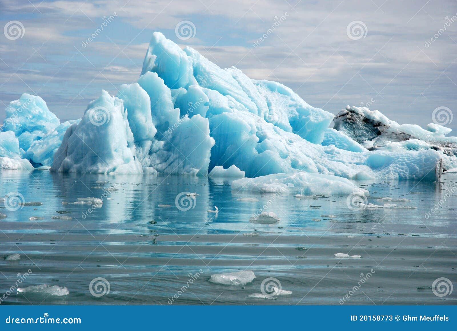 ³ azul n lagoa-Islândia do rlà do ¡ do gelo-Jökulsà da geleira