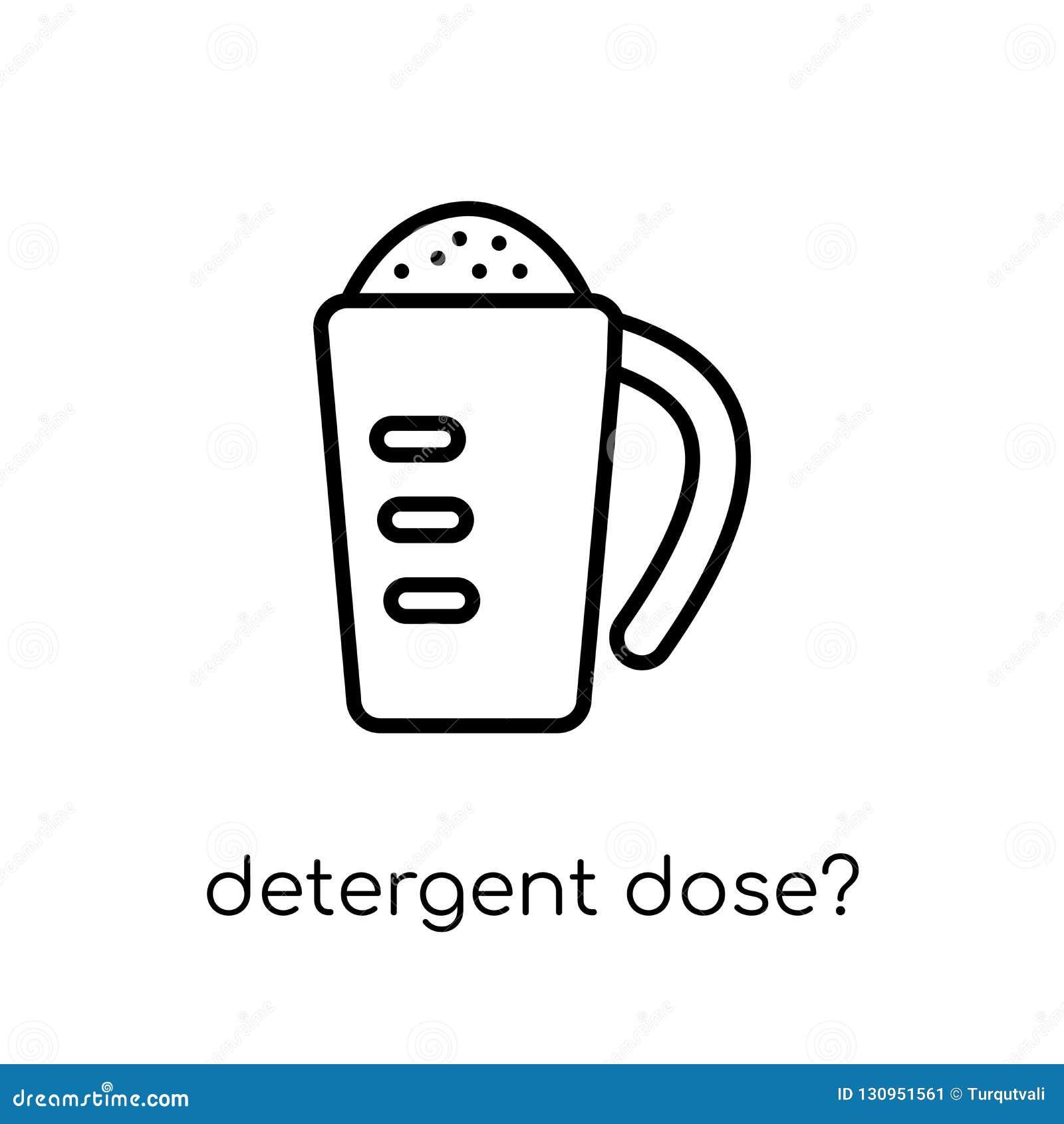 ¿dosis detergente? icono Detergente linear plano moderno de moda del vector