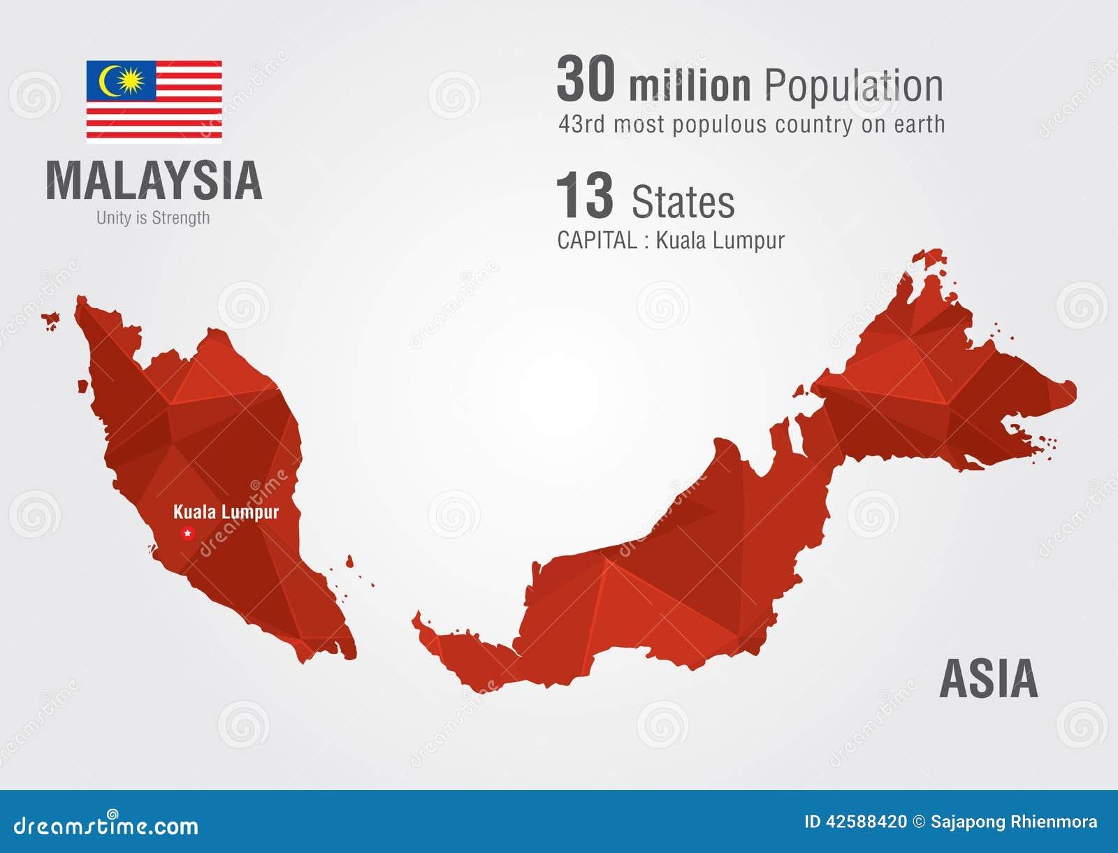 马来西亚地图分享展示图片