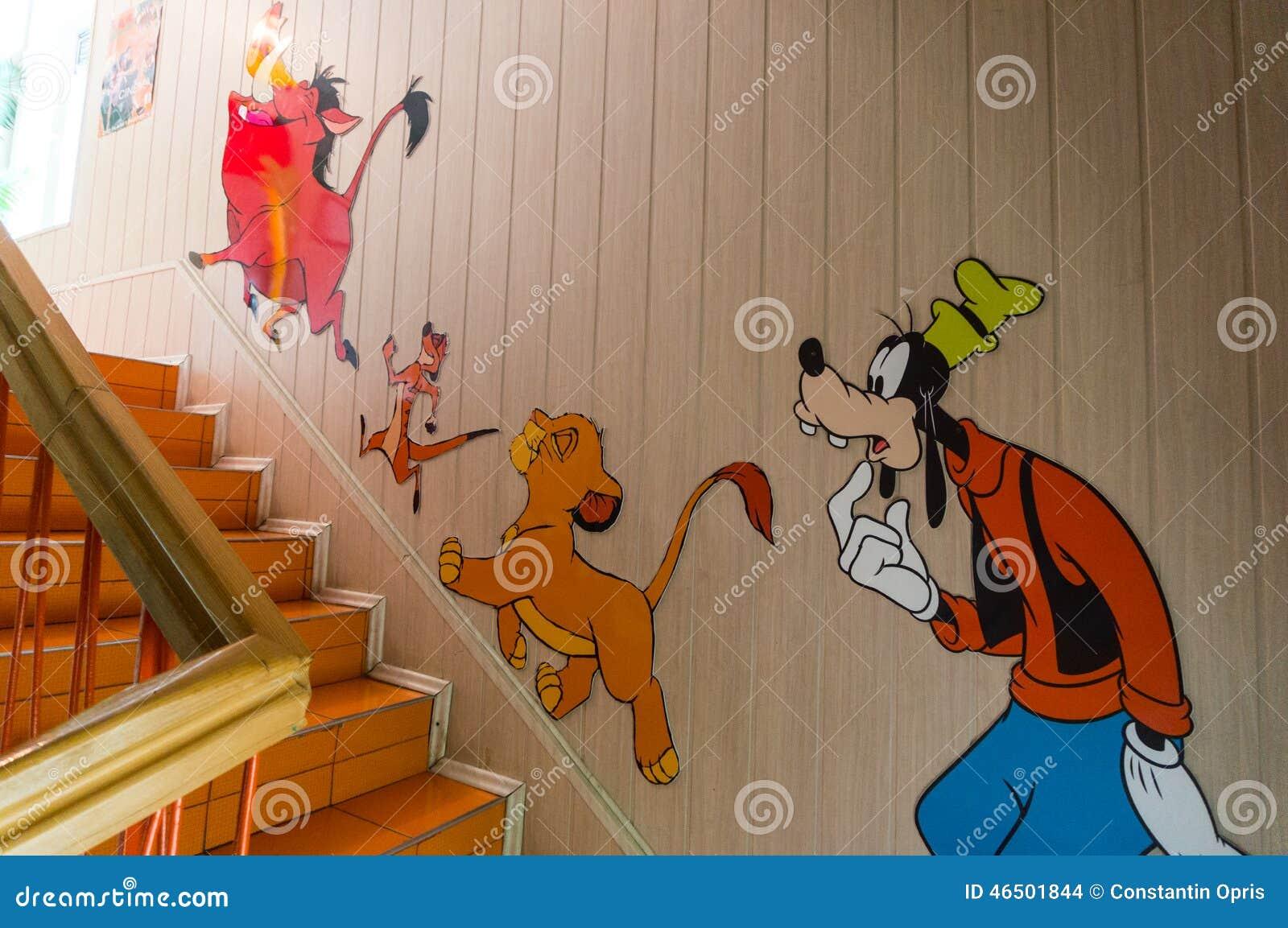 漫画人物儿童五颜六色的图象例证