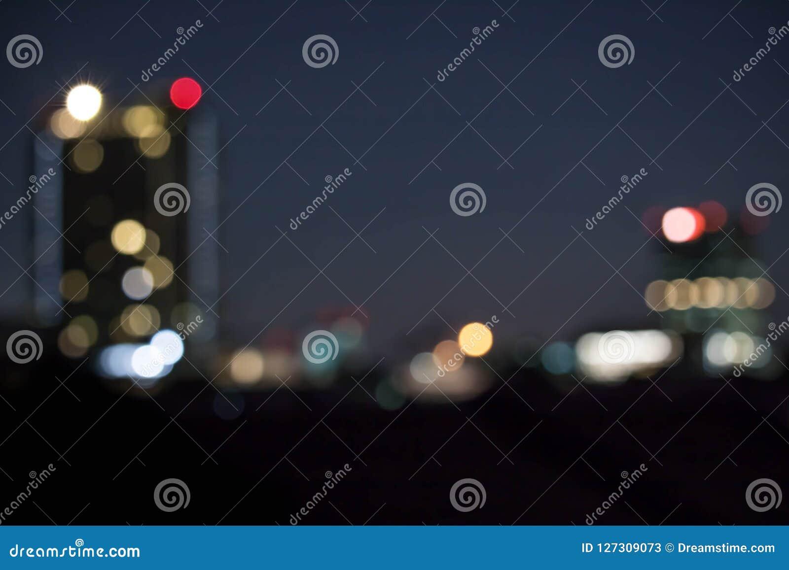 ฺblur licht bokeh in de nacht