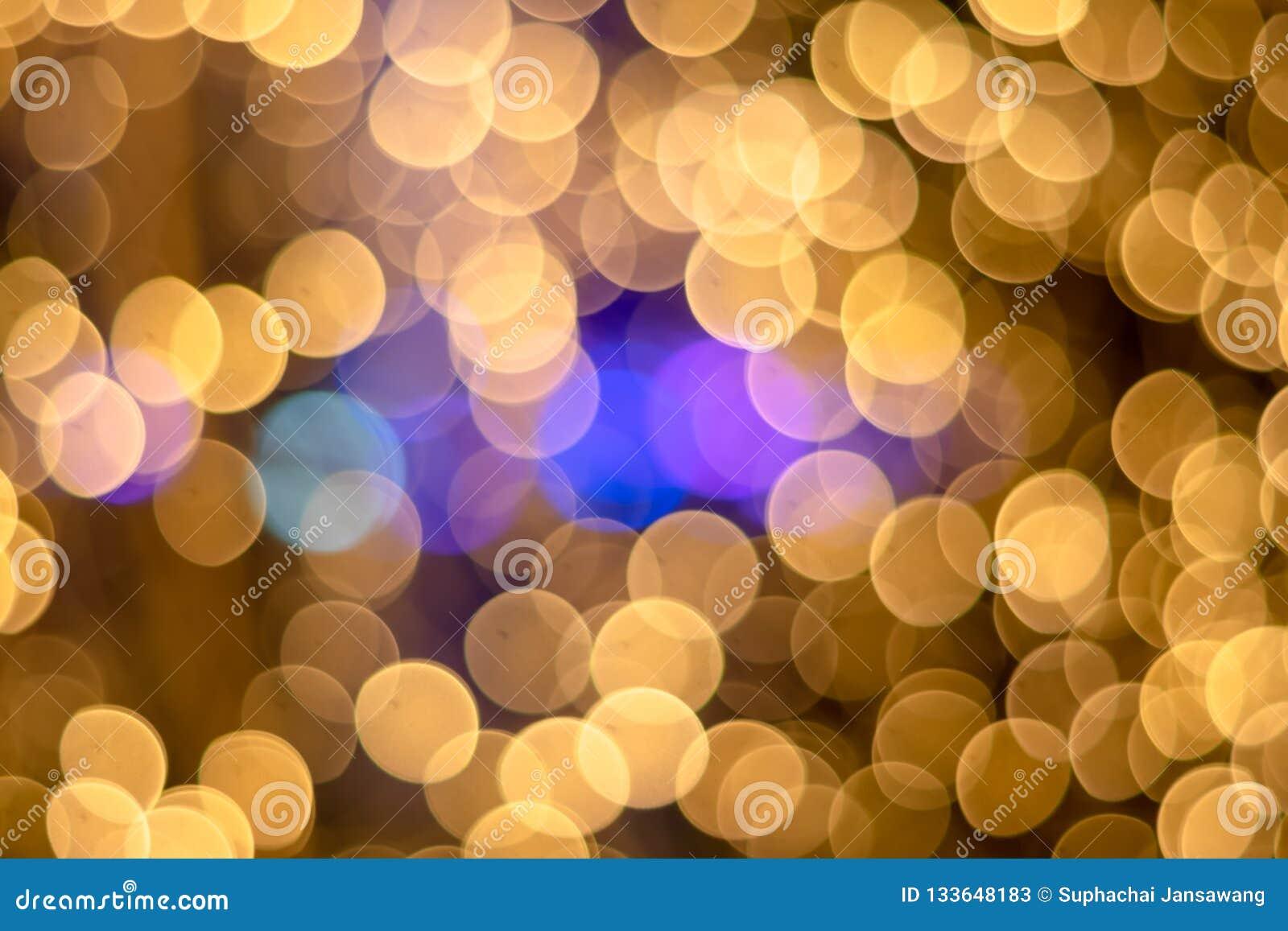 ฺChristmas Bokeh lekkich punktów złocisty tło piękny światło