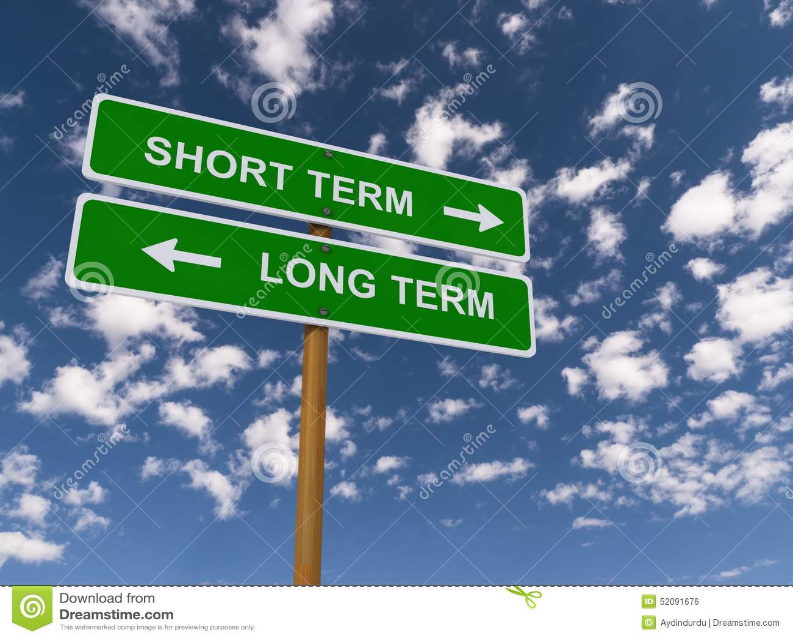 À court terme contre à long terme