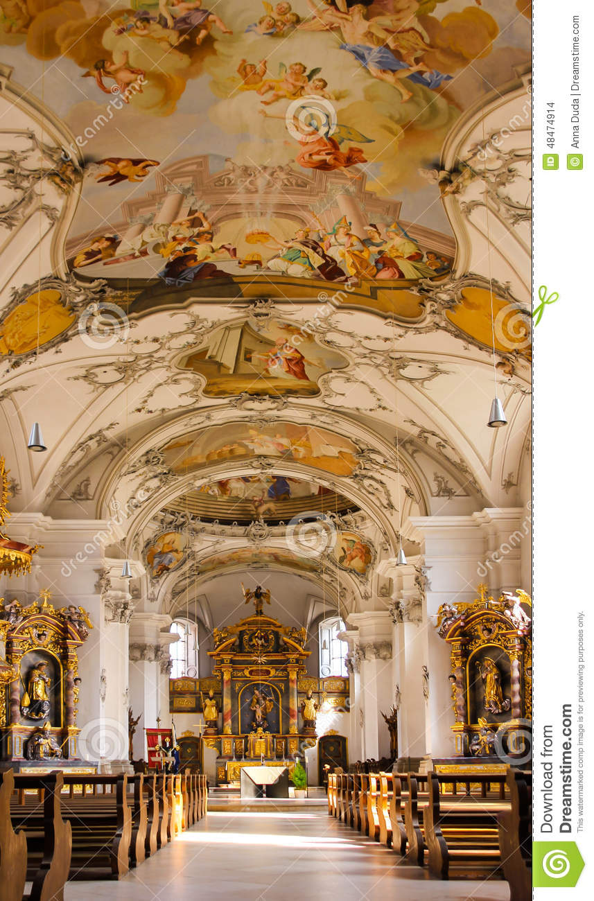 L 39 int rieur d 39 une glise baroque photo stock image for Interieur baroque