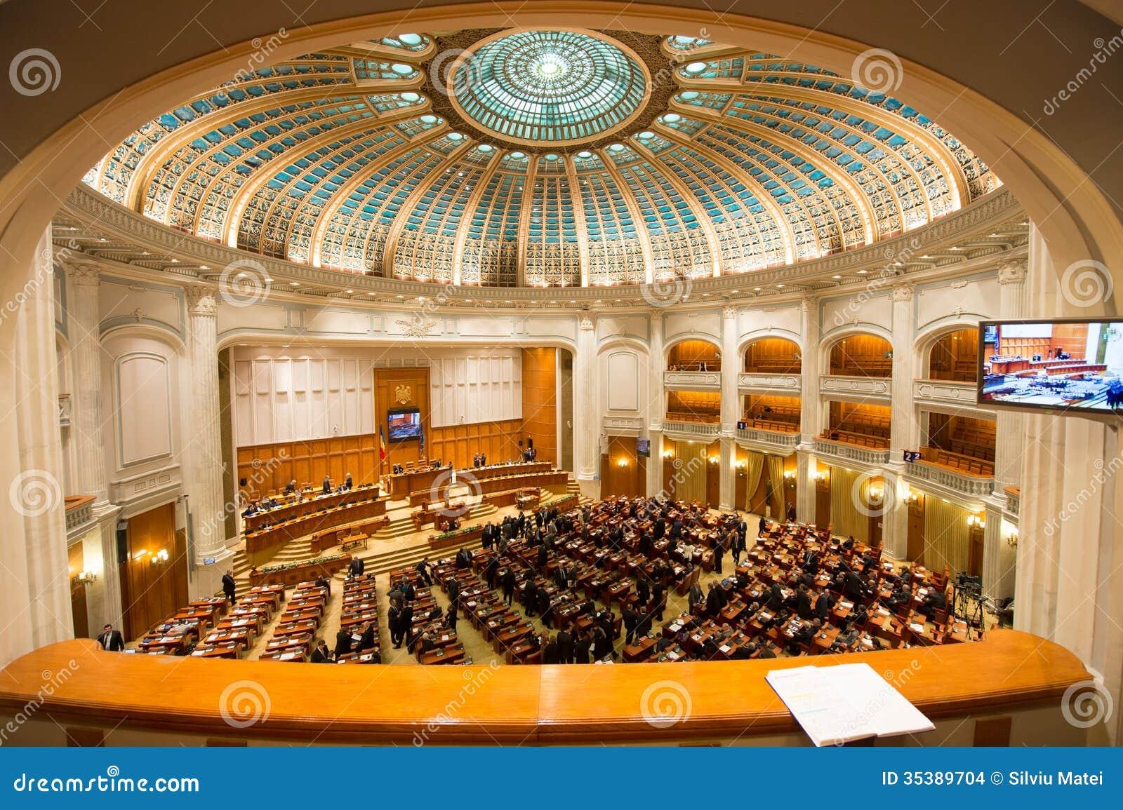 l 39 int rieur de du parlement roumain image stock ditorial image 35389704. Black Bedroom Furniture Sets. Home Design Ideas