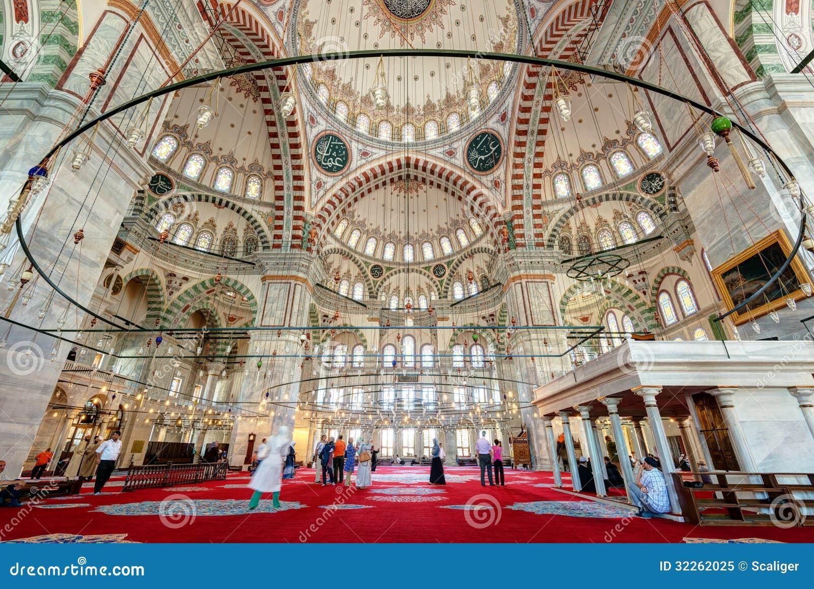 L 39 int rieur de fatih mosque istanbul la turquie image for Inside l interieur