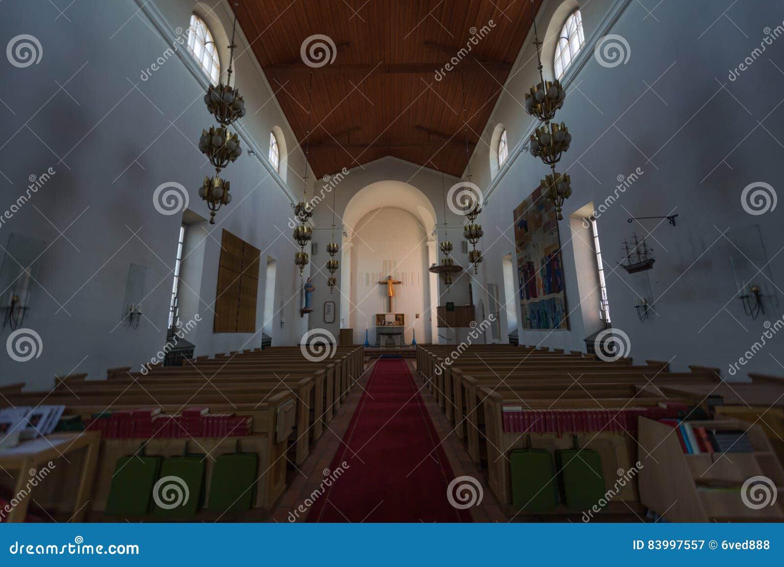 À l intérieur de l église de Nynashamn, Stockholm, Suède