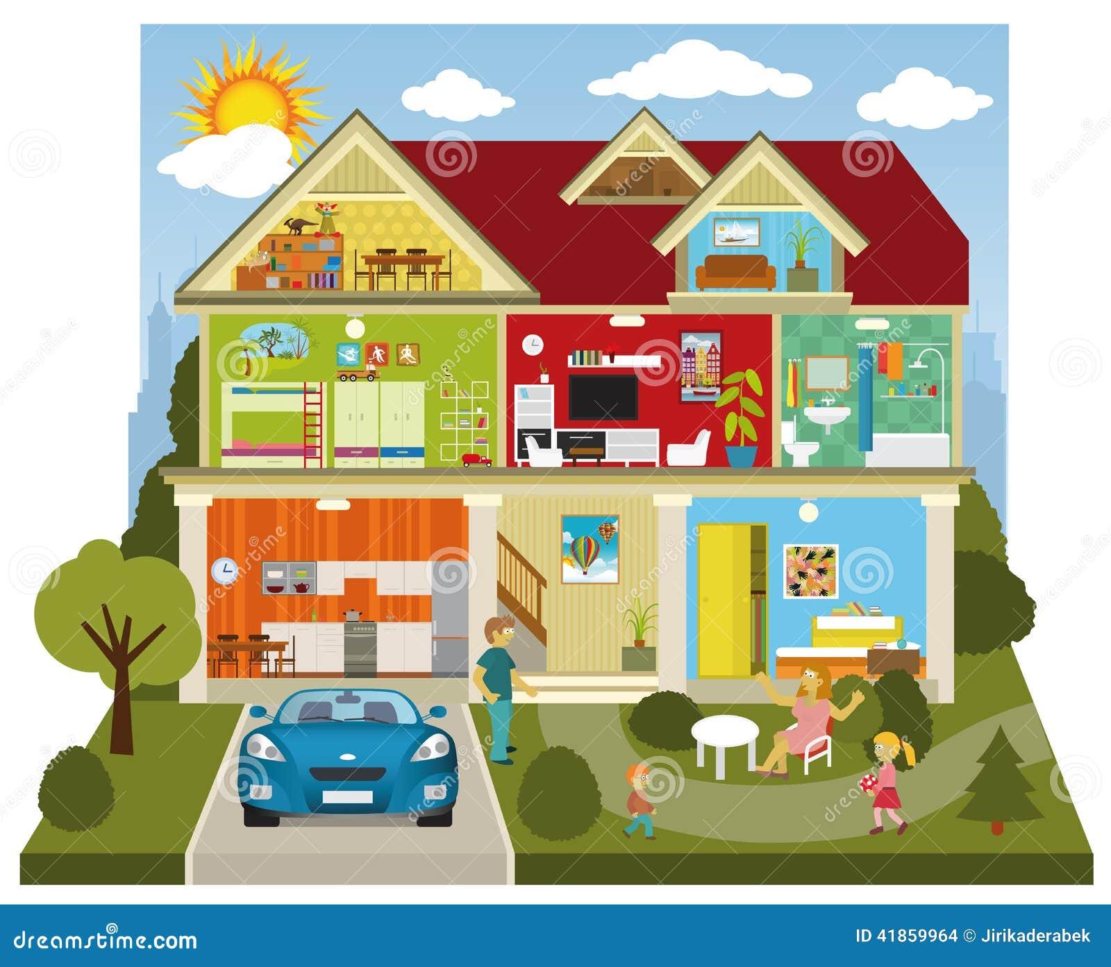 L 39 int rieur de la maison illustration de vecteur image for L interieur de la maison