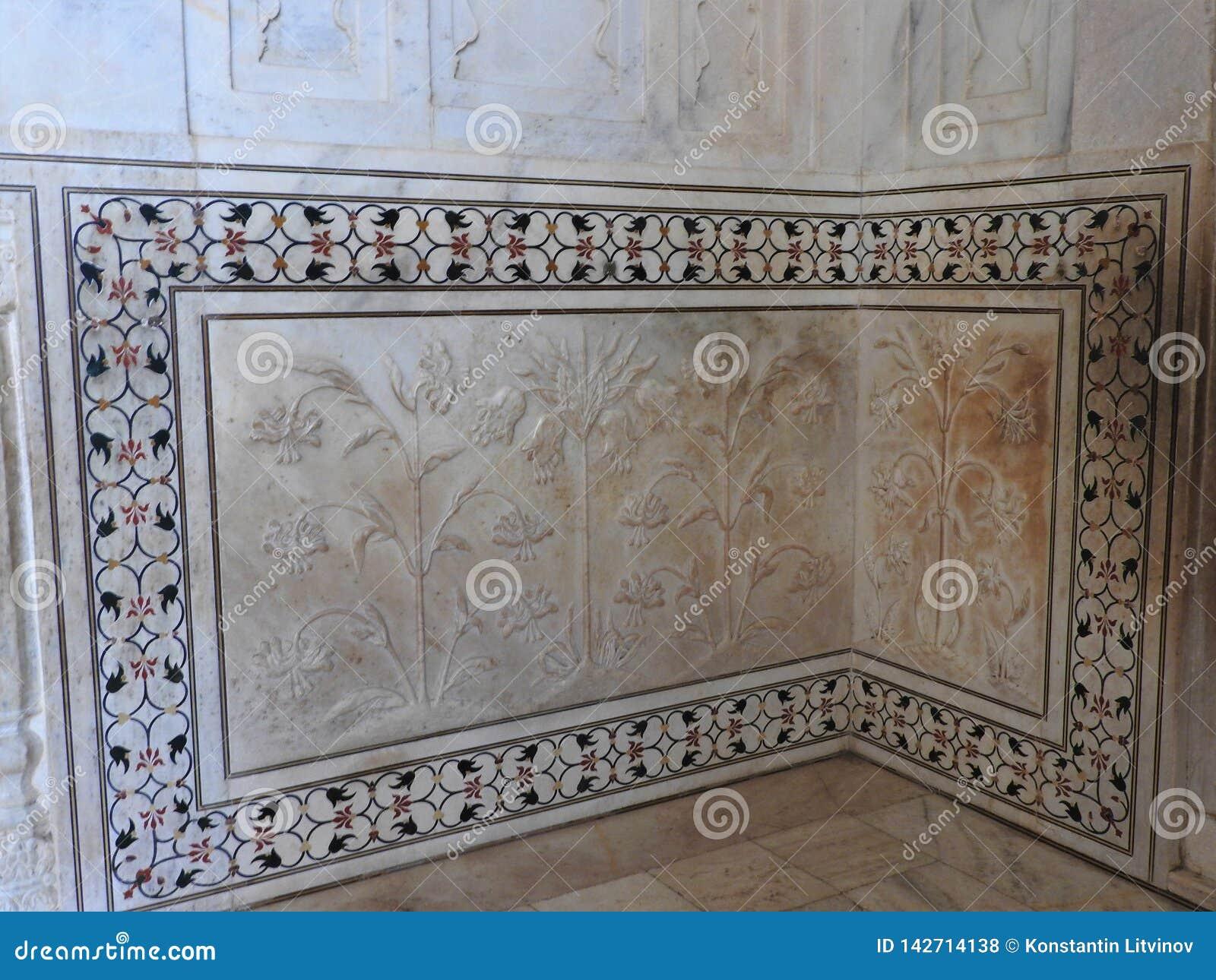 À l intérieur du mausolée de Taj Mahal à Âgrâ, l Inde, héritage de l UNESCO, établi 1632-1653