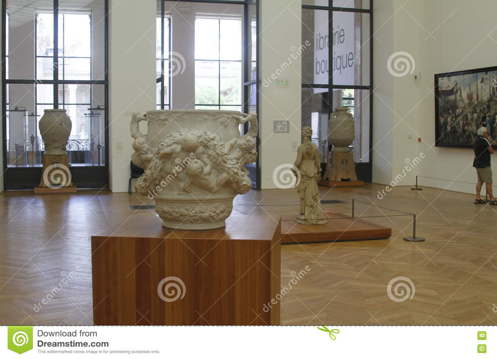 À l intérieur du musée, Frances de Paris
