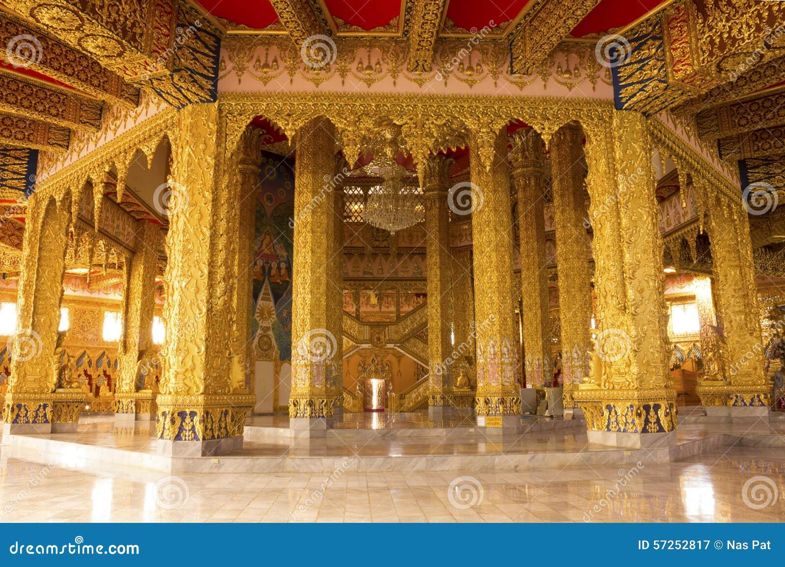 L 39 int rieur du temple d 39 or photo stock image 57252817 for Inside l interieur