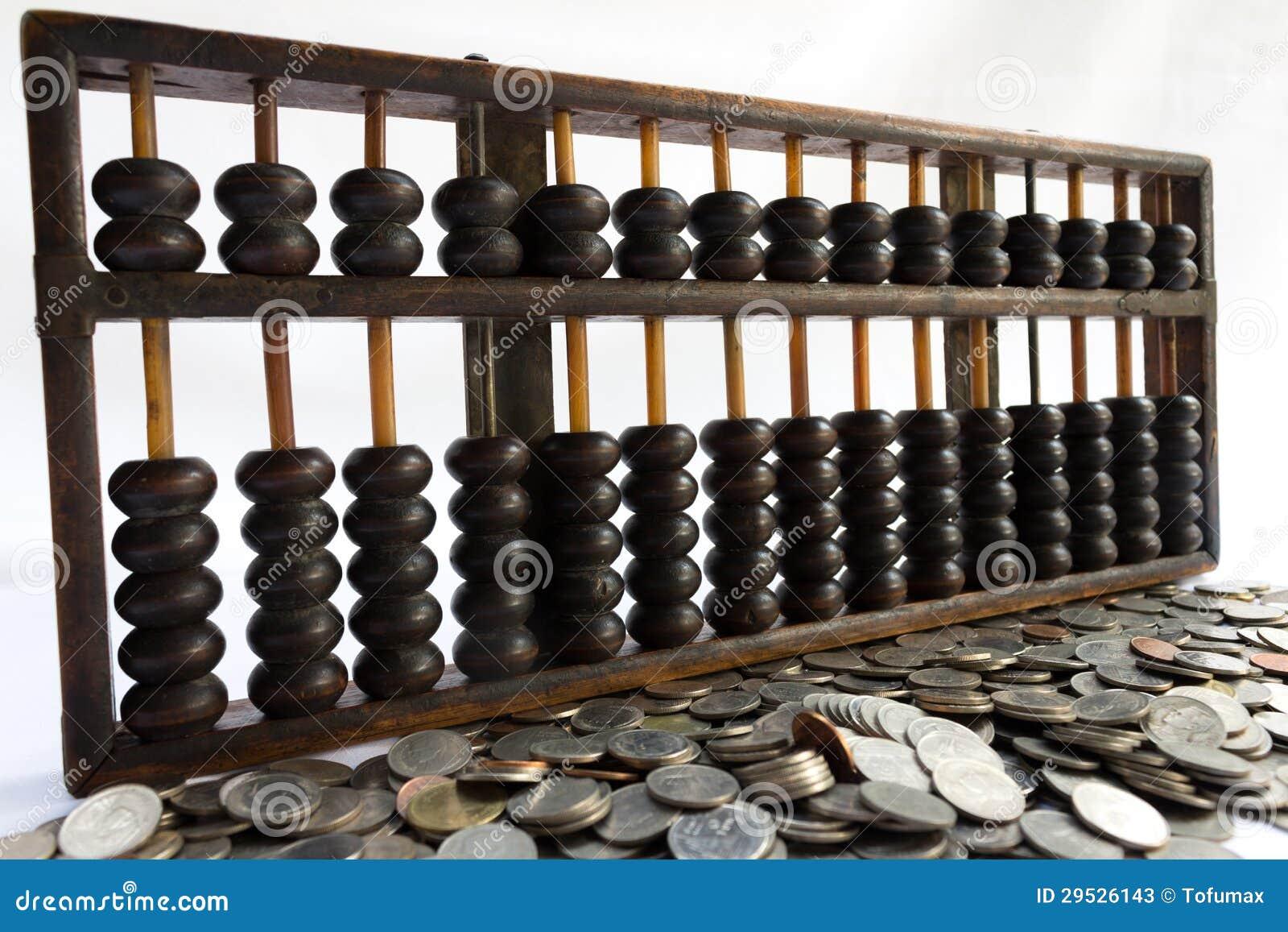 Ábaco e moeda