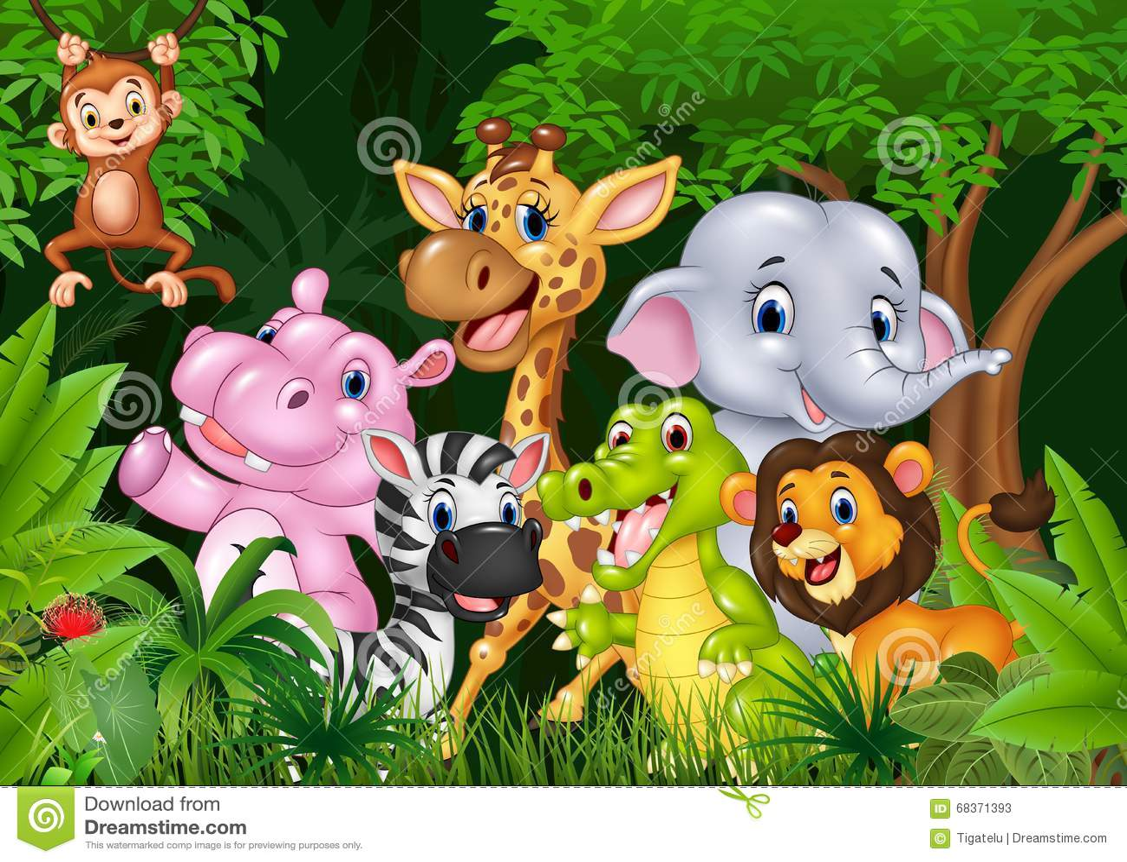 África animal bonito na selva