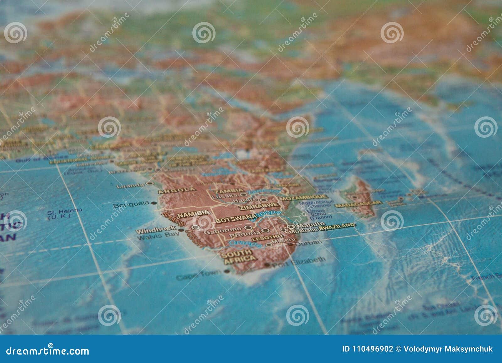 África en el mapa África en el mapa del mundo