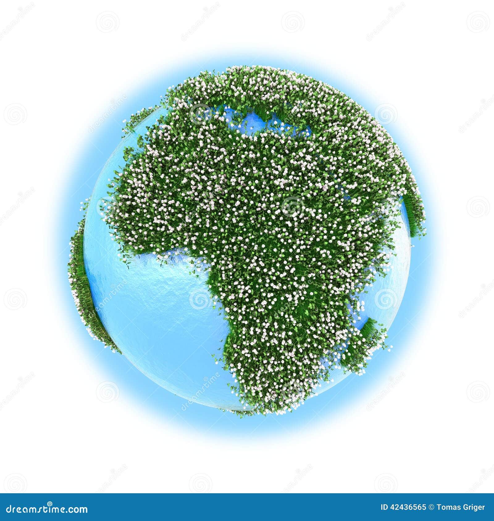 África en la tierra del planeta