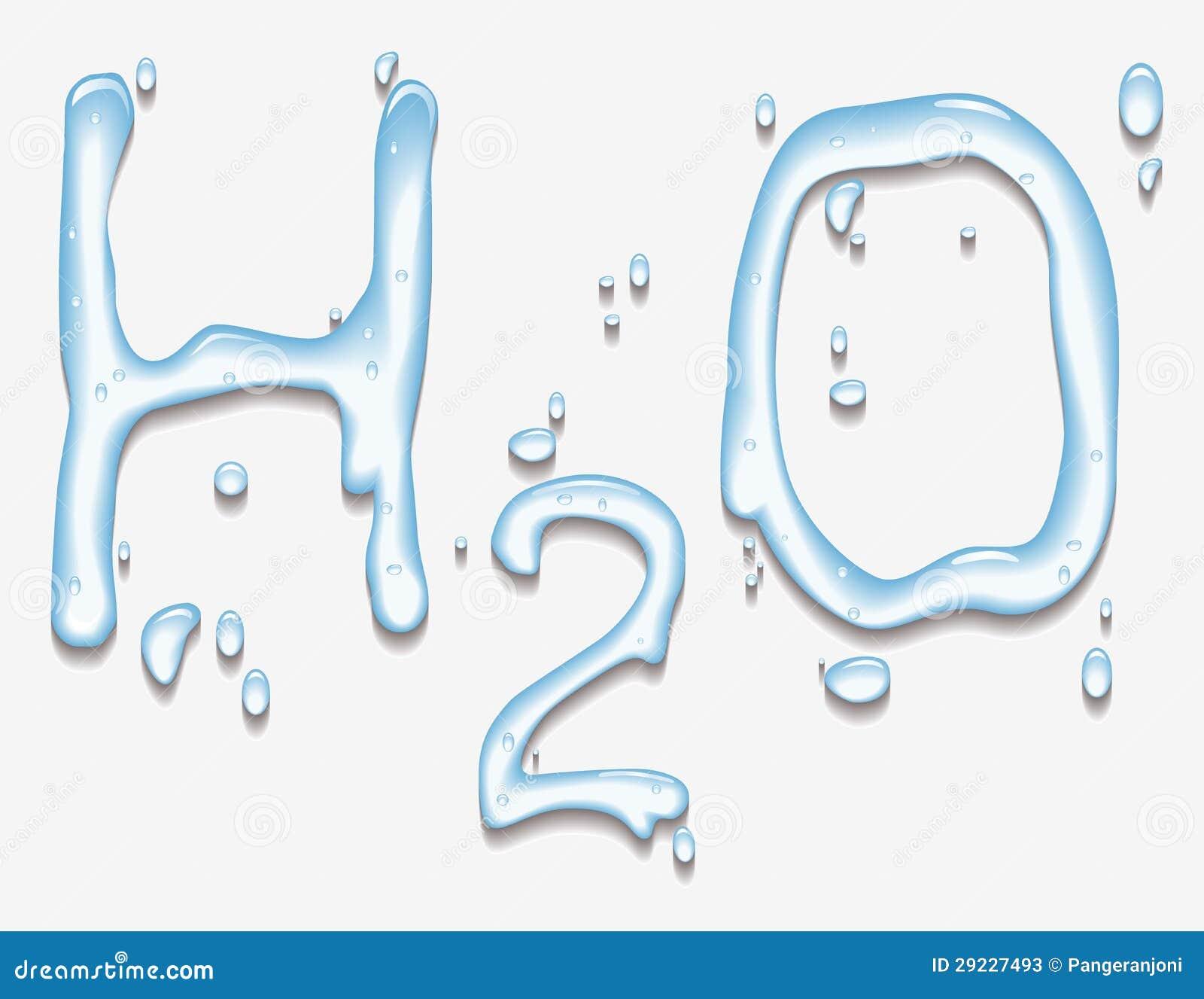 Download Água com forma de H2O ilustração stock. Ilustração de bolha - 29227493