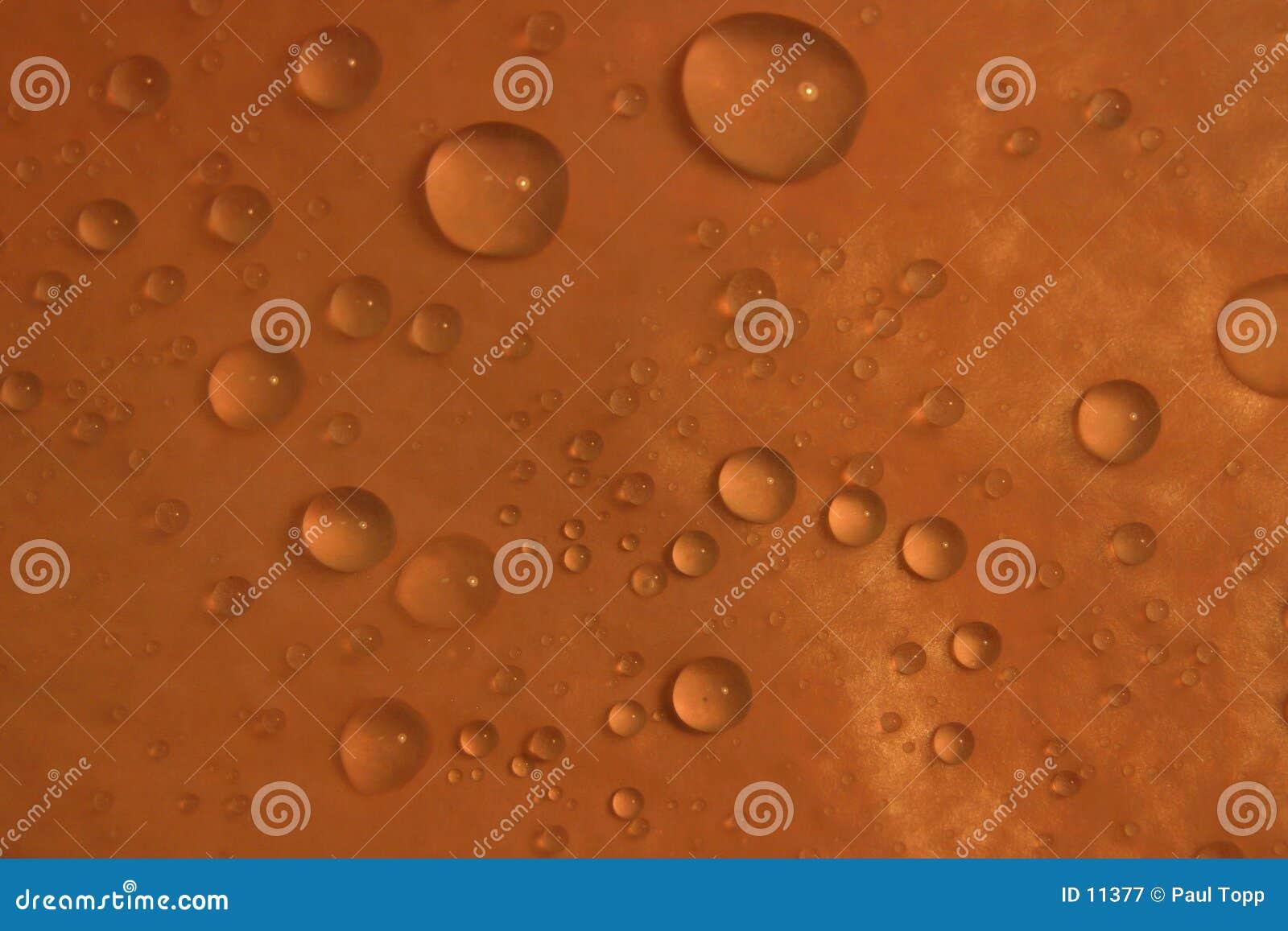 A água deixa cair o Close-Up
