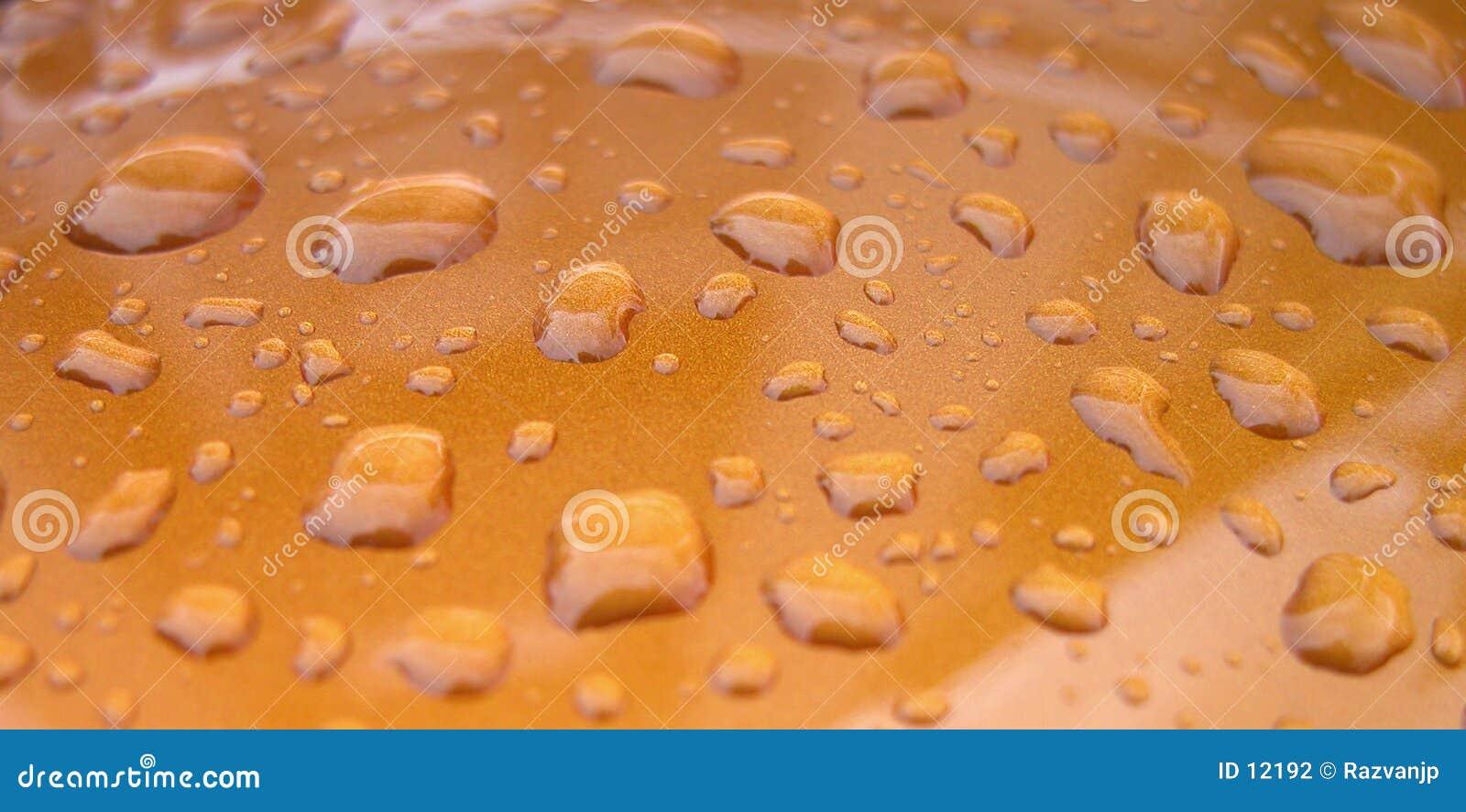 A água deixa cair a textura