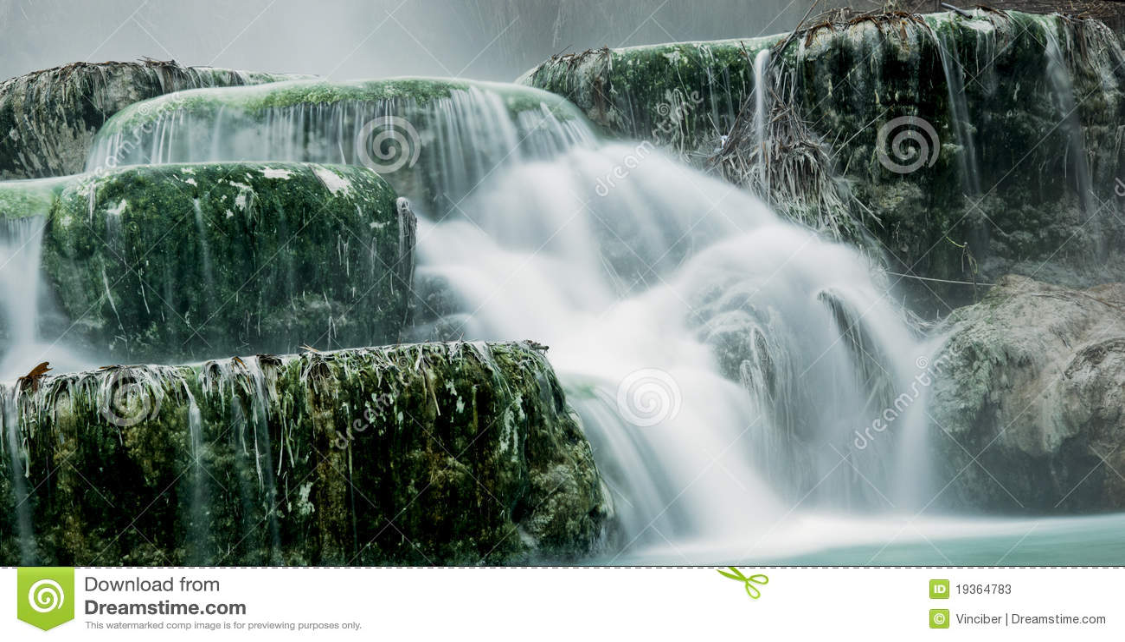 Água térmica para banhar-se.