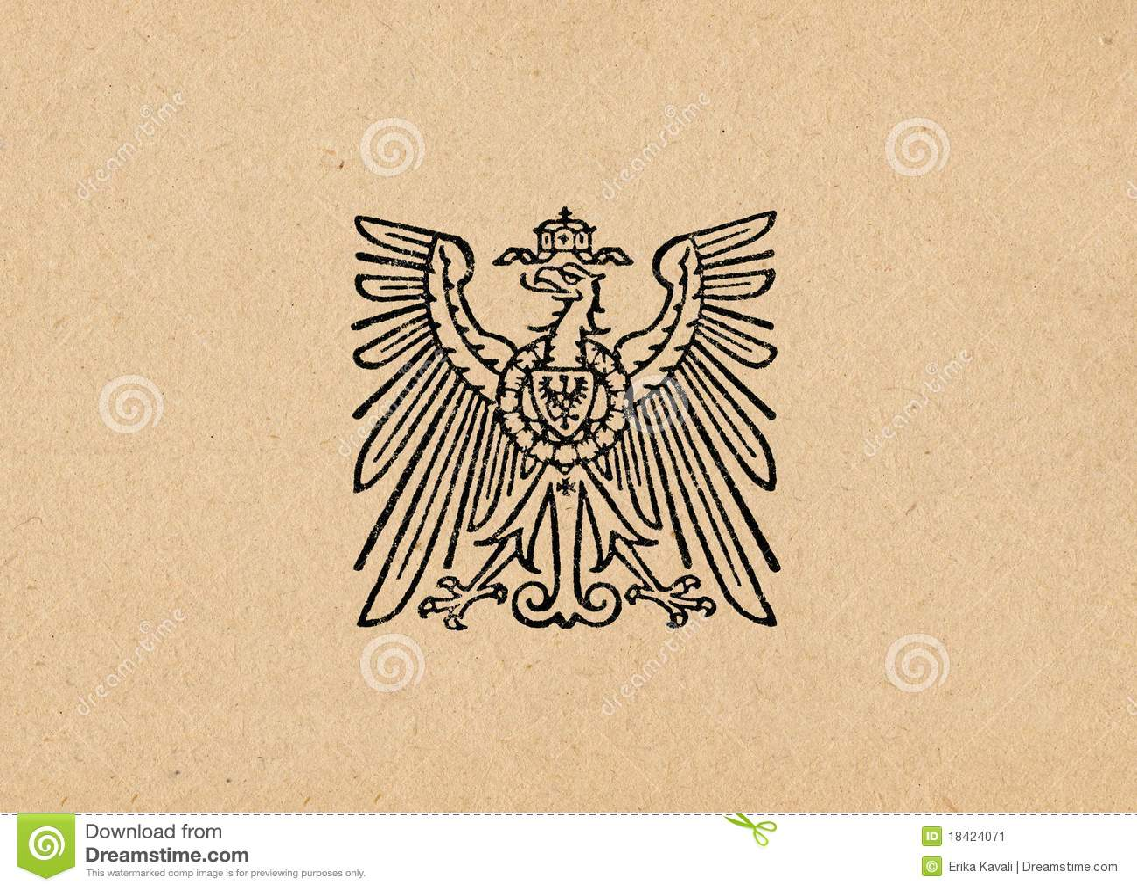 Águia alemão ww2 do Reich de Ober Ost