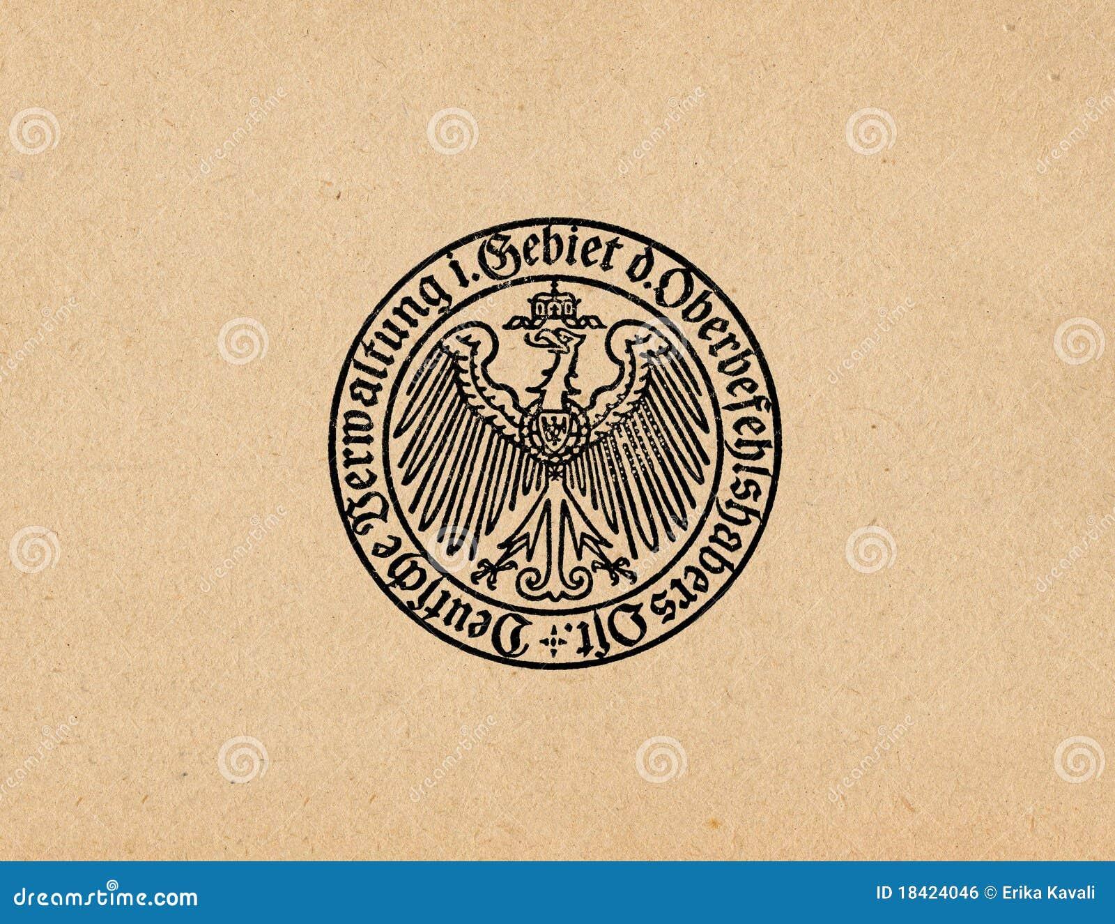 Águila alemana ww2 del Reich de Ober Ost
