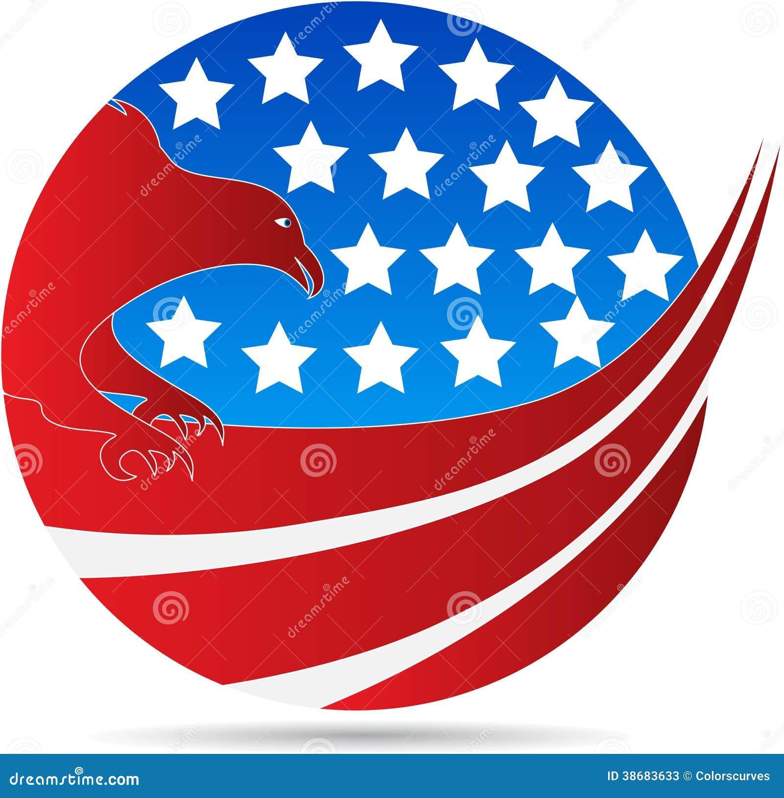 Águila americana del globo