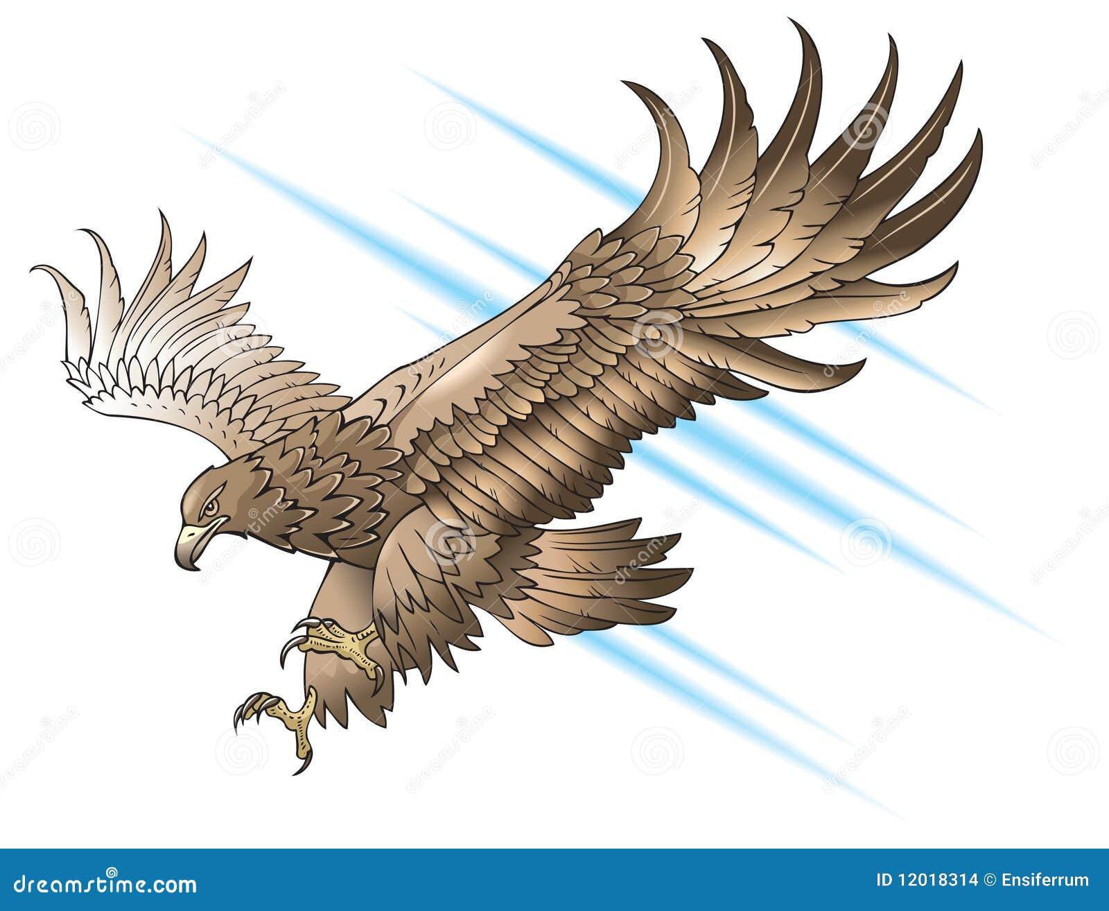 Águila que ataca