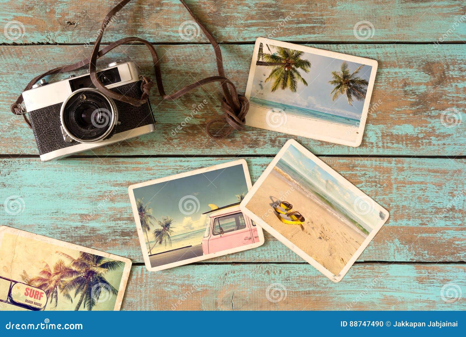 Álbum de fotografias do verão