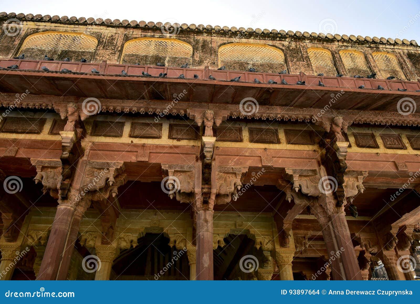 Ámbar del fuerte, la India