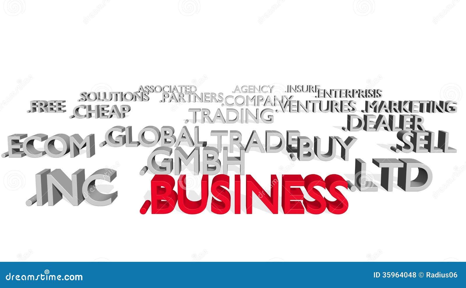 Ámbitos del tema del negocio