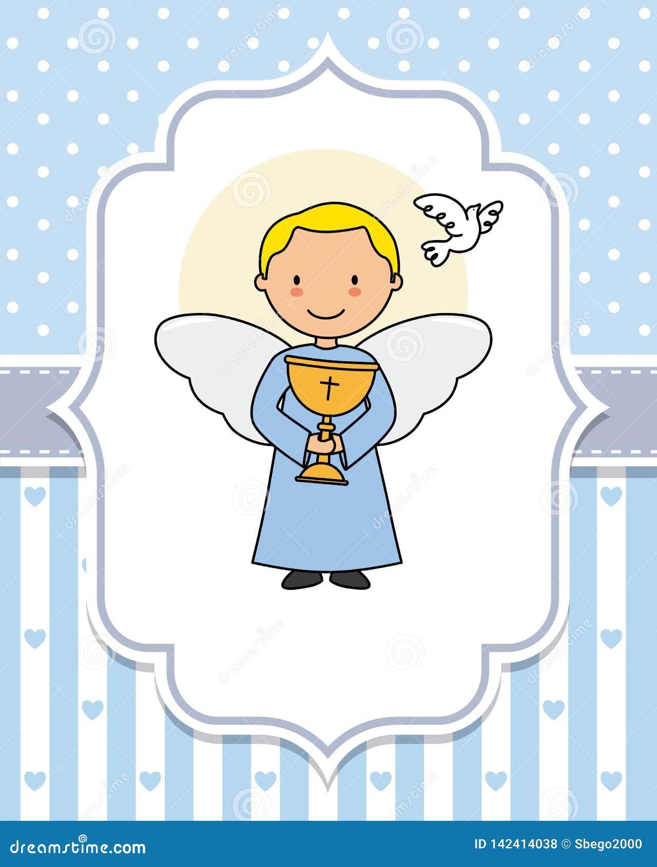 Ángel con una cáliz en las manos