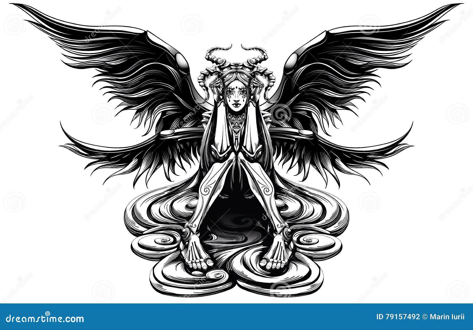 Ángel de cuernos
