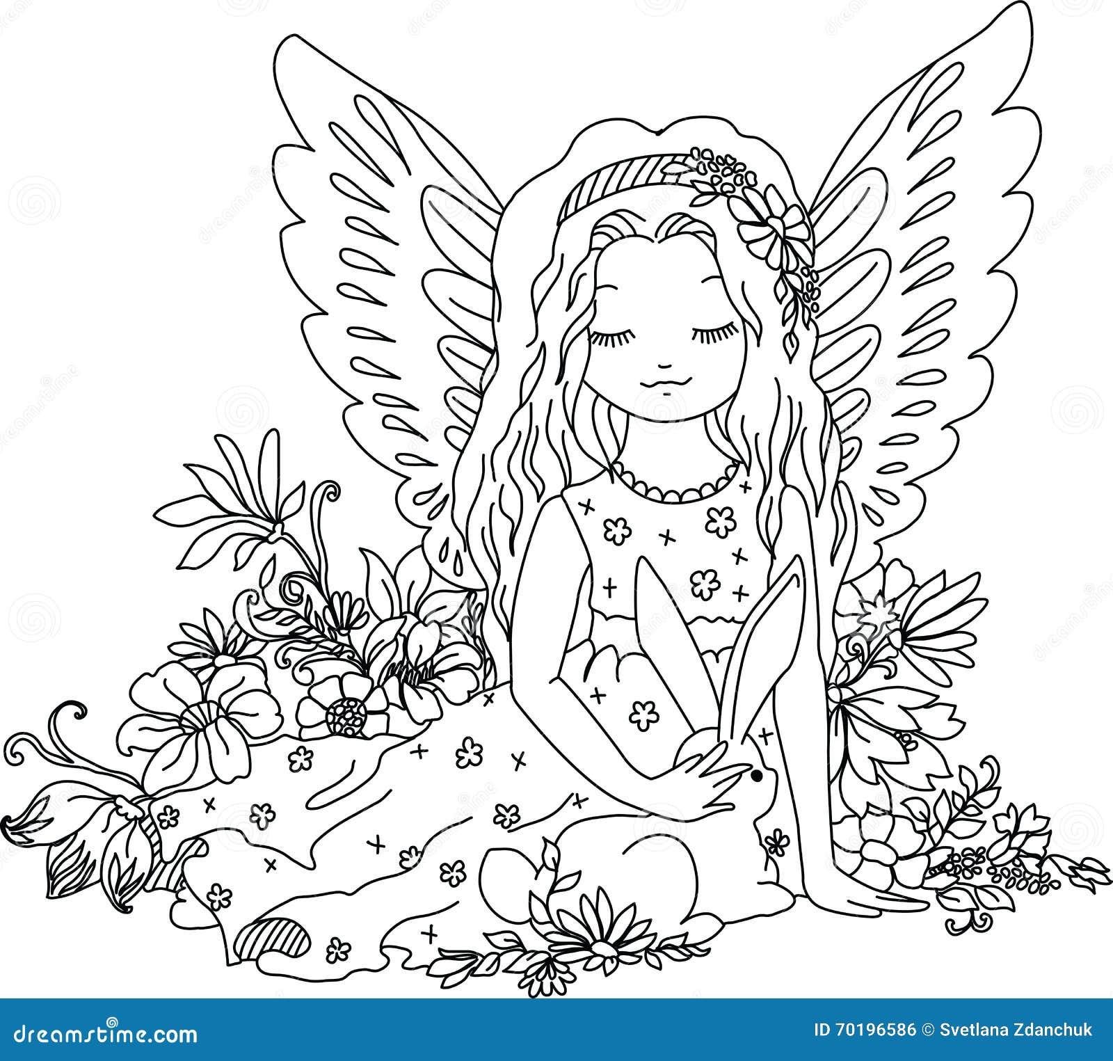 Perfecto Lindo Anime Angel Para Colorear Ideas - Enmarcado Para ...