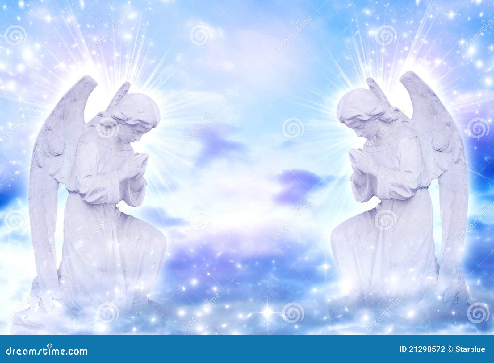 ángeles Stock De Ilustración Ilustración De Rayos Divino 21298572