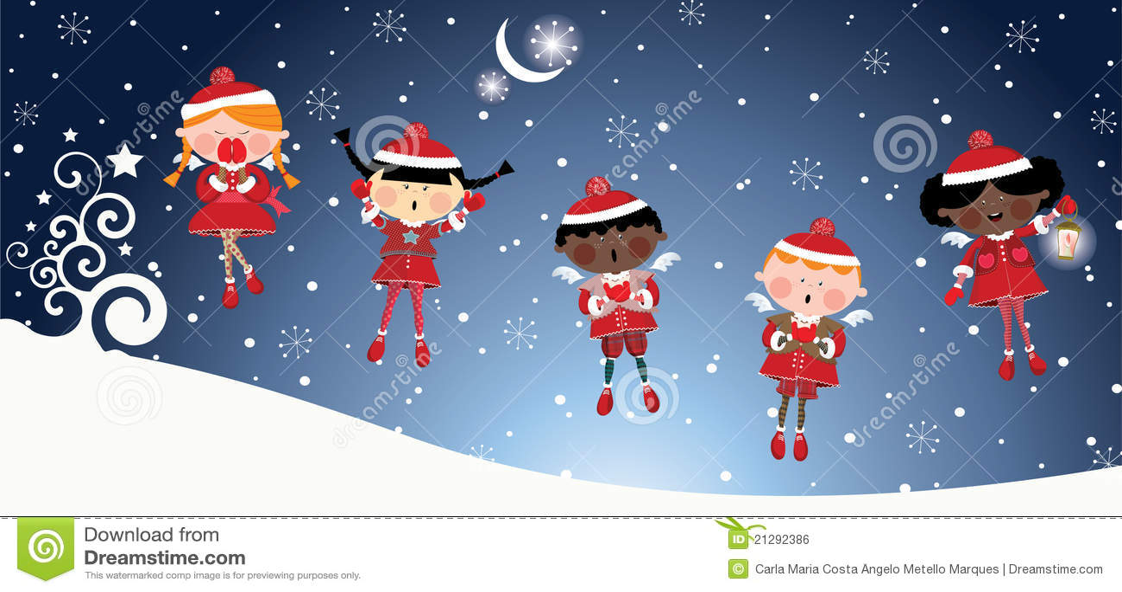 Ángeles de la Navidad