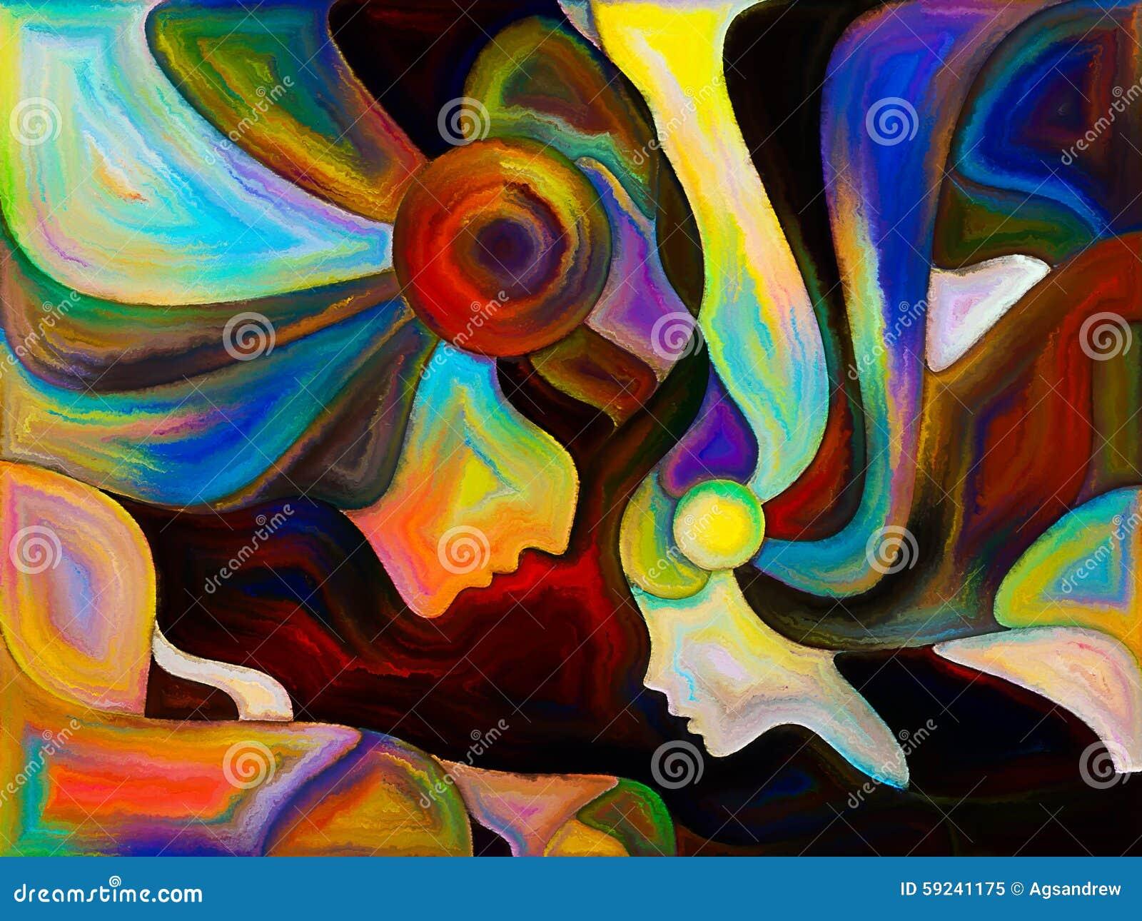 Download Ángeles del color stock de ilustración. Ilustración de shape - 59241175