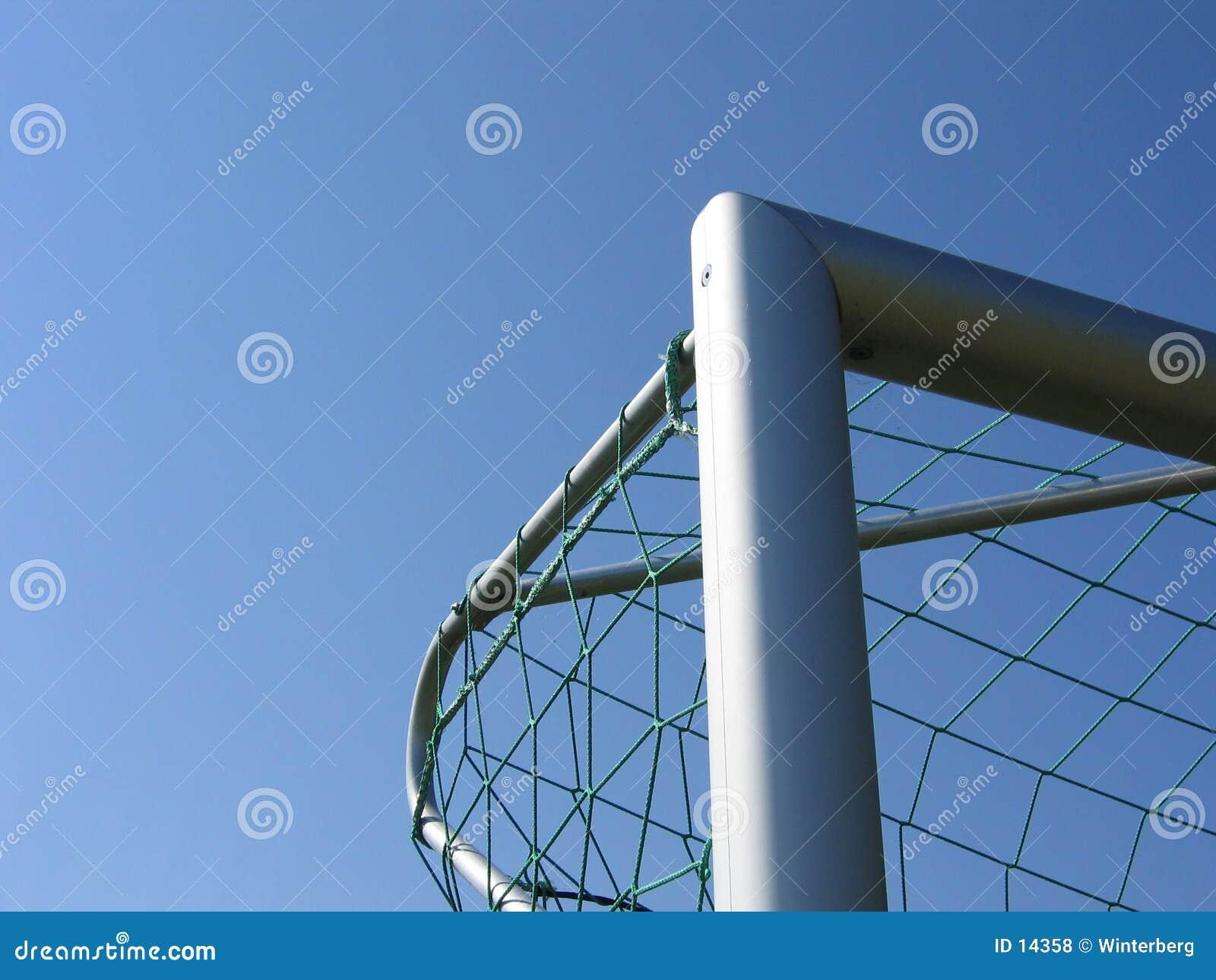 Ángulo de la meta del fútbol