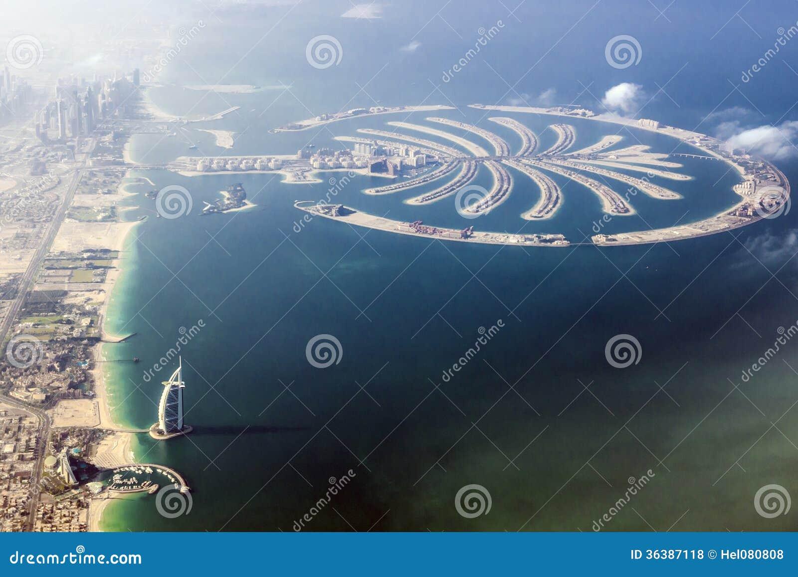 Árabe del al de Dubai – de Burj y la palma